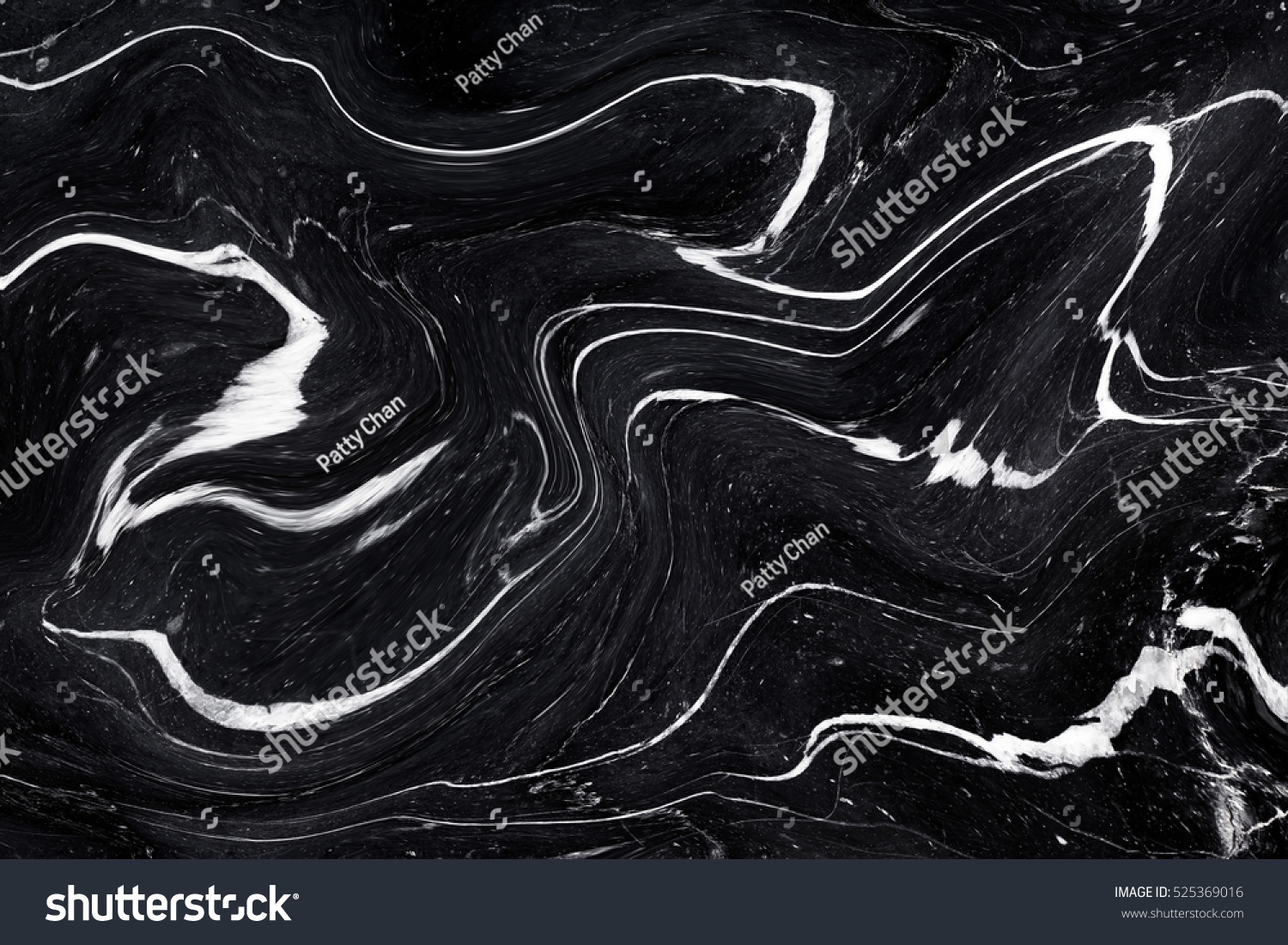 Black Marble Ink Texture Acrylic Painted Stock Photo