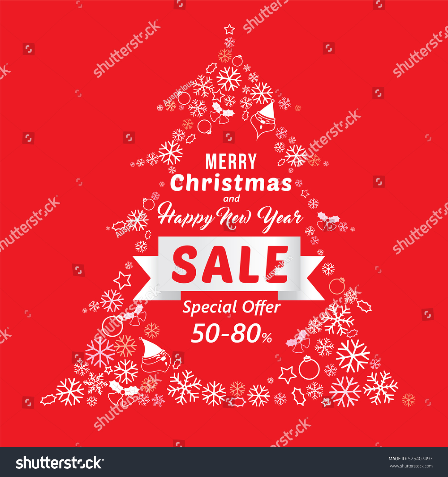 christmas new year sale banner template stock vector 525407497