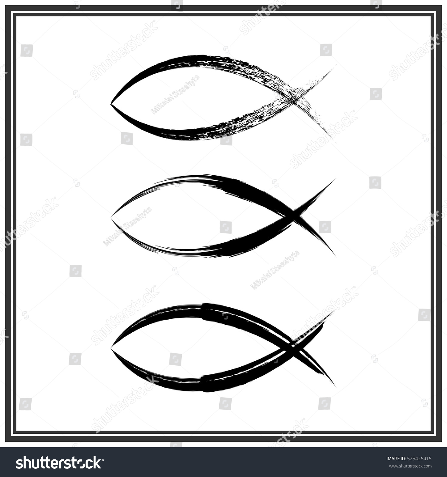 Christian fish symbol vector 525426415 shutterstock for What does the fish symbol mean in christianity