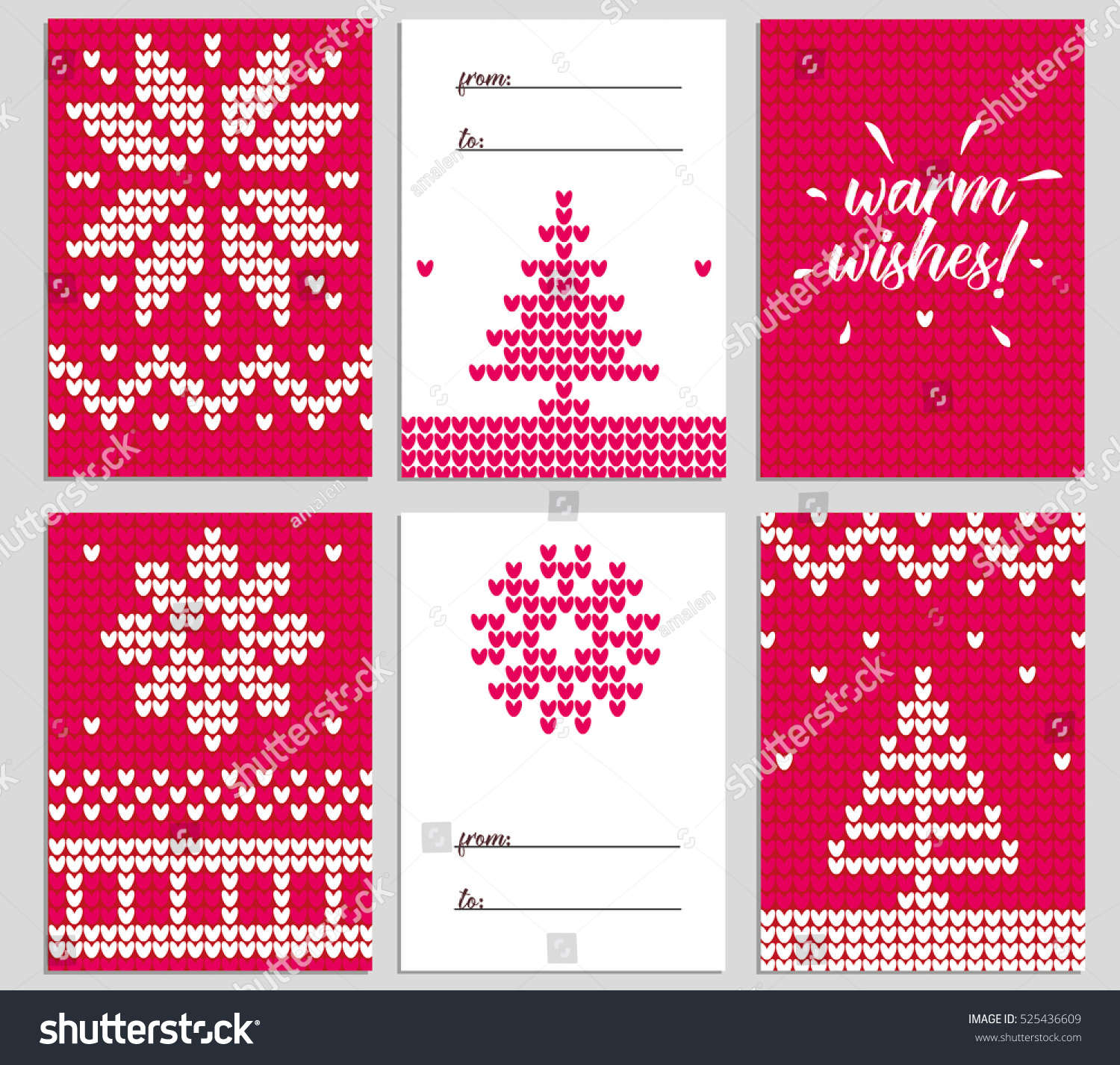 Vector Christmas Background Illustration Knitted Sweater Stock