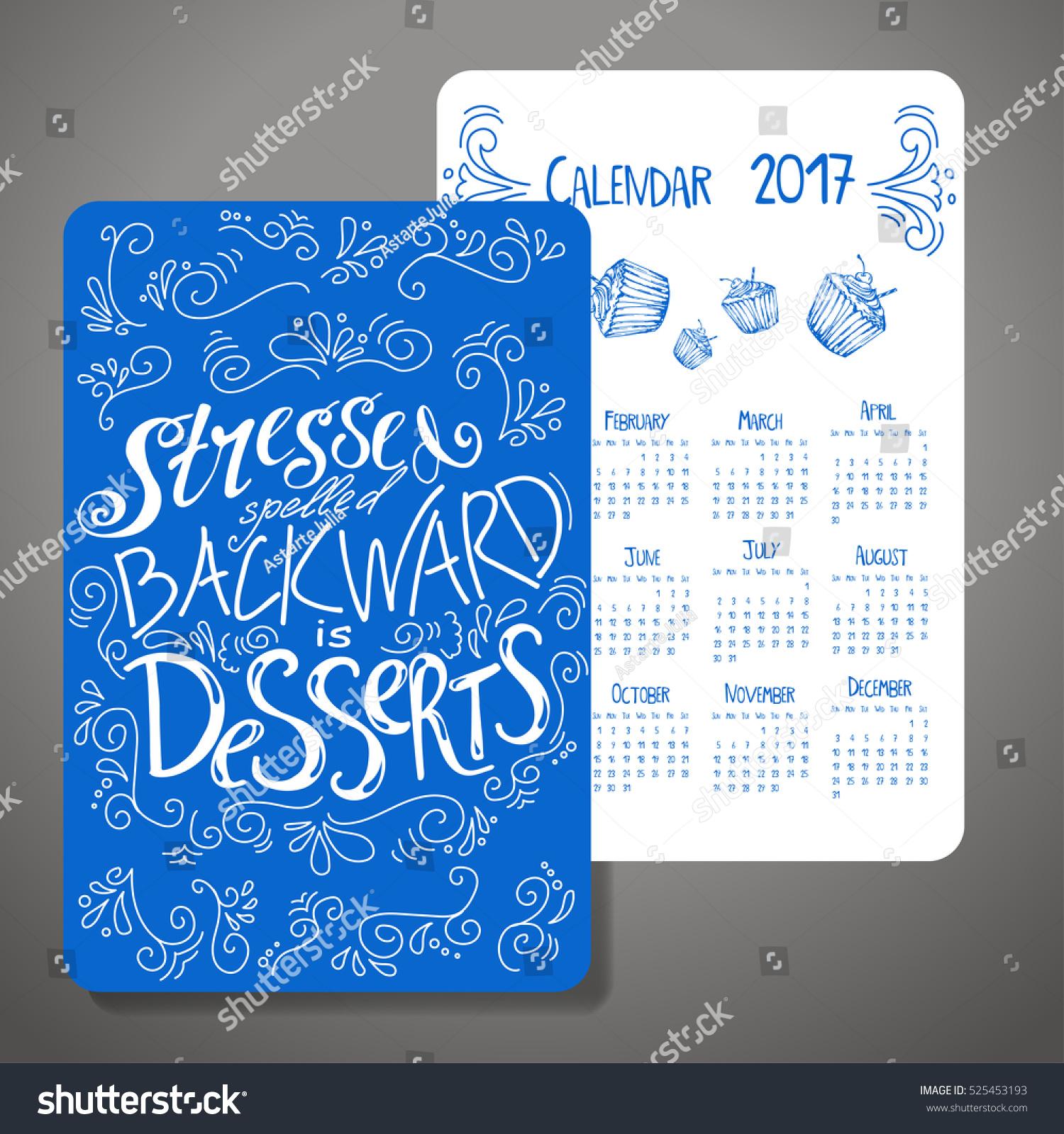 Calendar Design Quote : Vector calendar design motivational quote stock vector