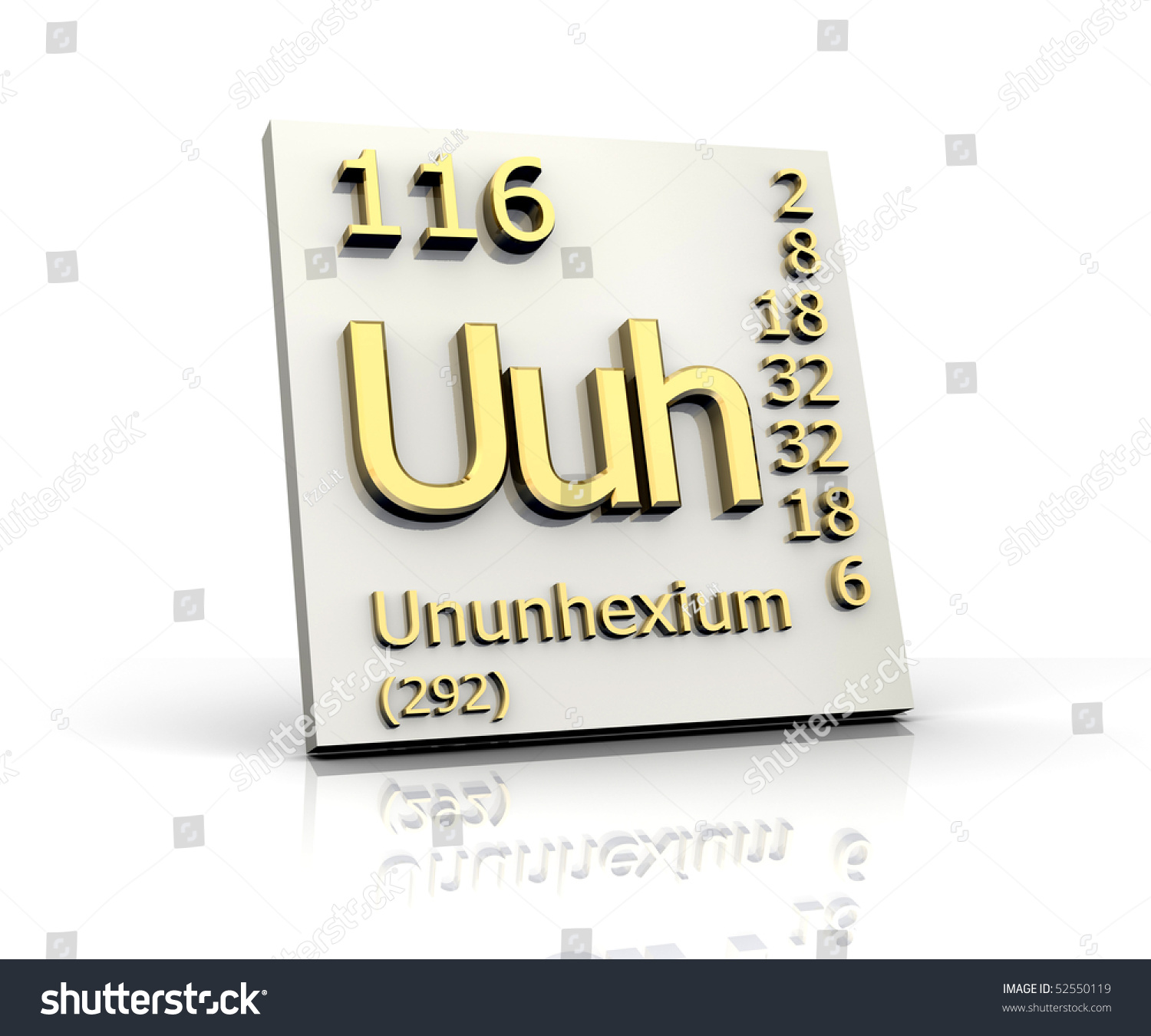 Ununhexium Periodic Table Of Elements Stock Photo 52550119 ...