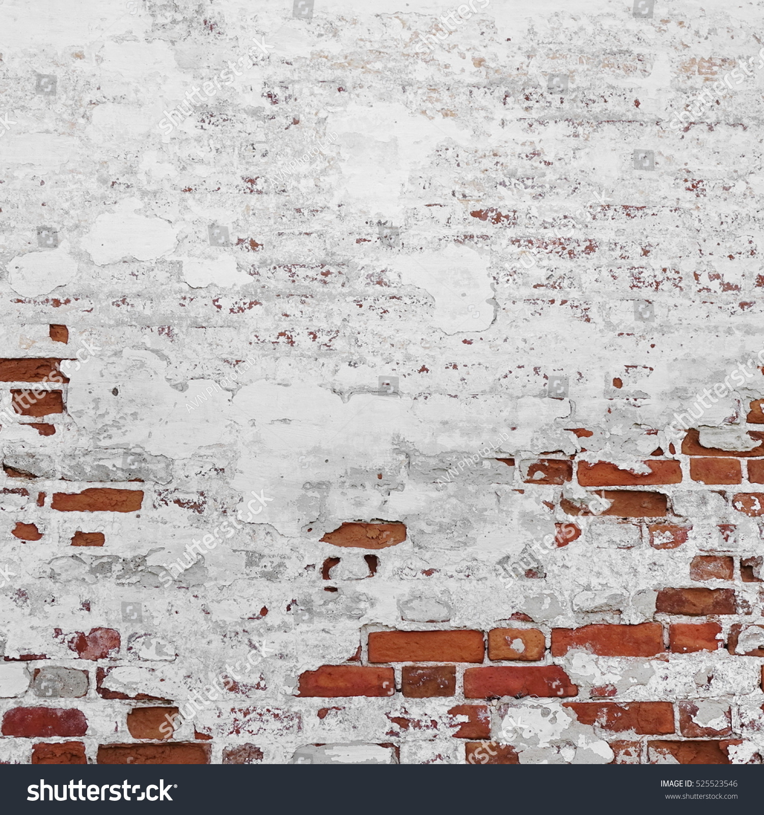Hourwall Classicbrick Vintagewhite: Abstract Red White Stonewall Urban Texture Stock Photo