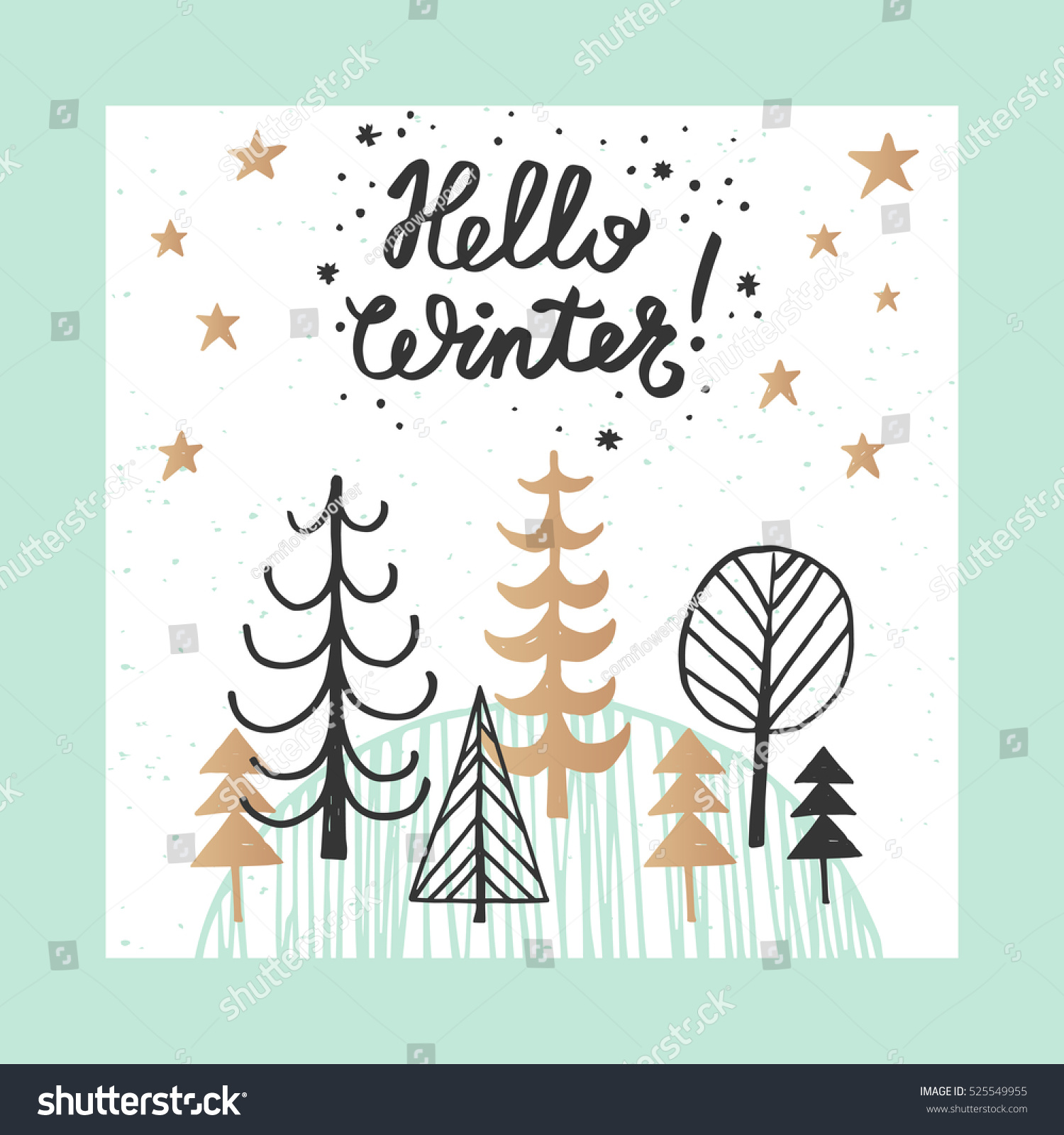 Christmas new year design greeting card stock vector royalty free christmas and new year design greeting card hand drawn vector illustration for greeting cards m4hsunfo