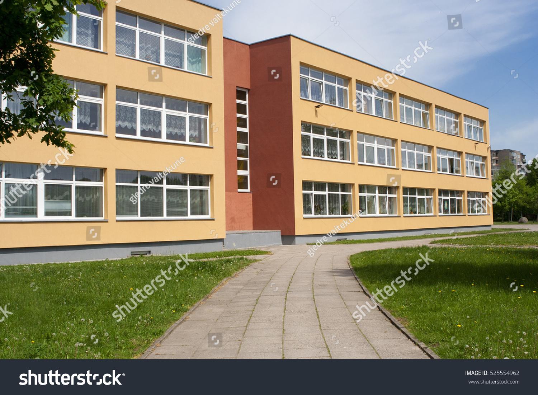 Exterior View Of School.
