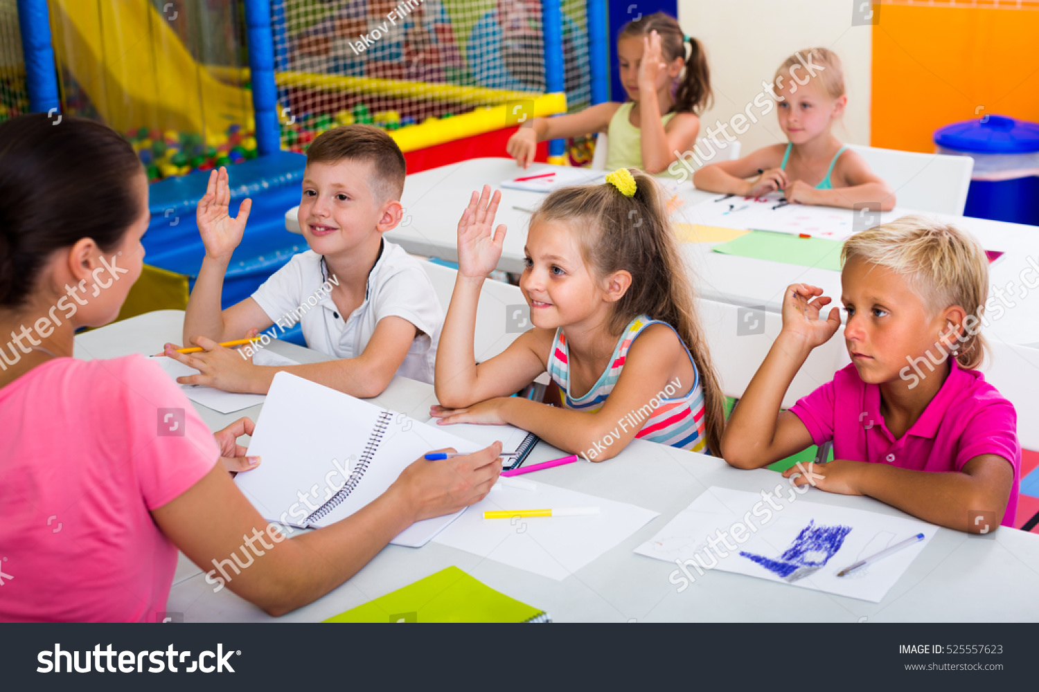 Primary School Kids Sitting School Class Stock Photo (Edit Now ...