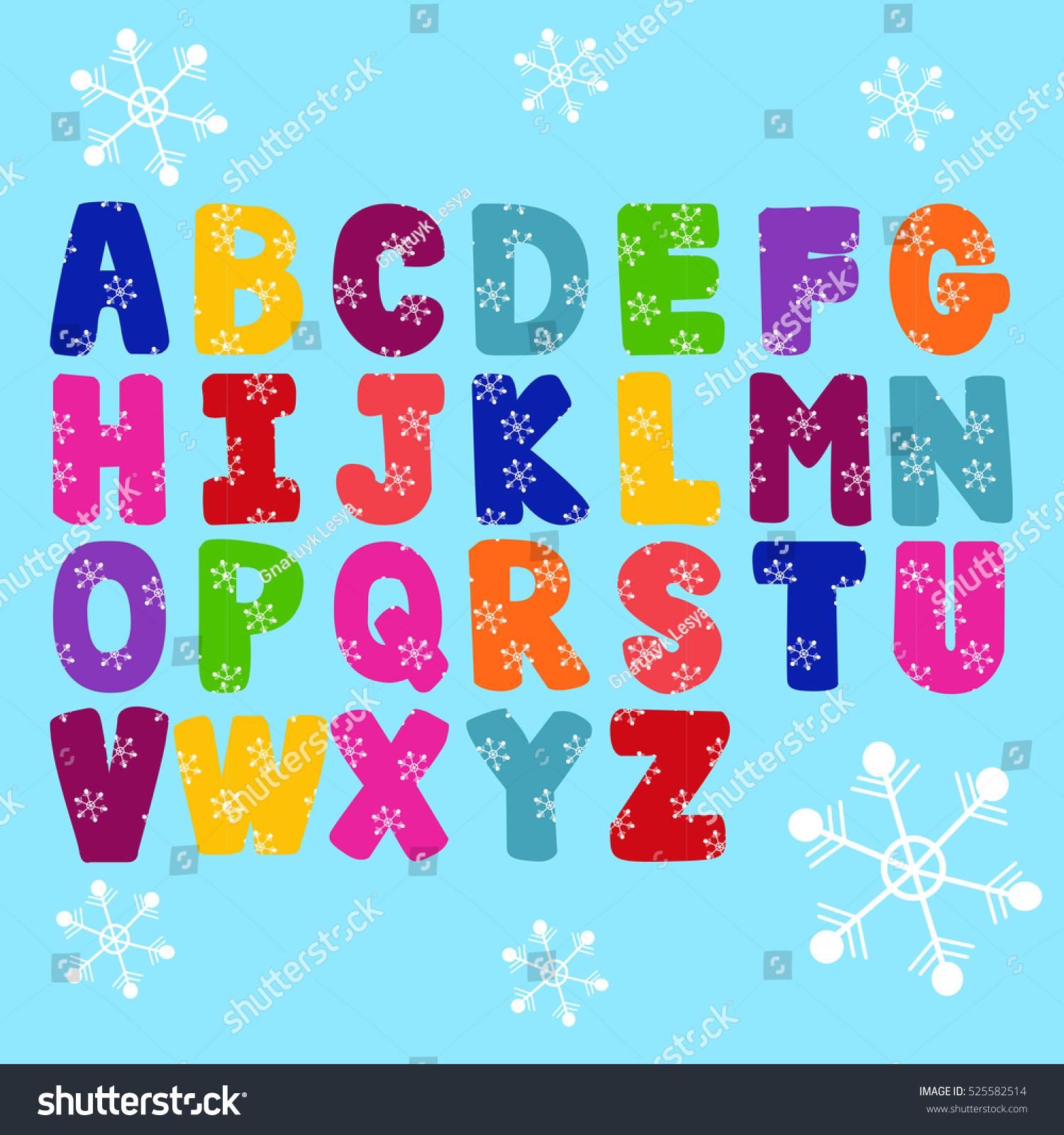 Vector Abstract Alphabet Alphabet Design Typography Stock Vector