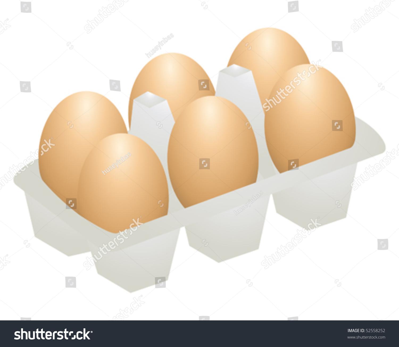 Breakfast Yellow White Eggs Cracked Eggs Stock Vector 52558252 ...