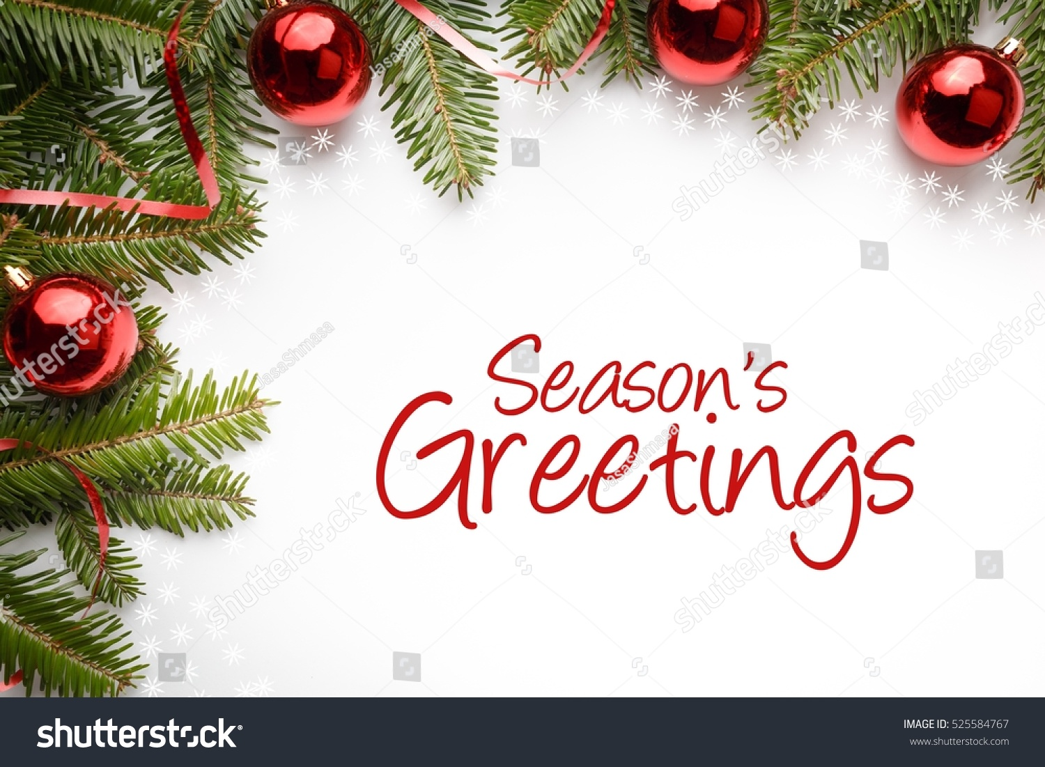 Christmas Decoration Background With Message Happy Holidays Ez