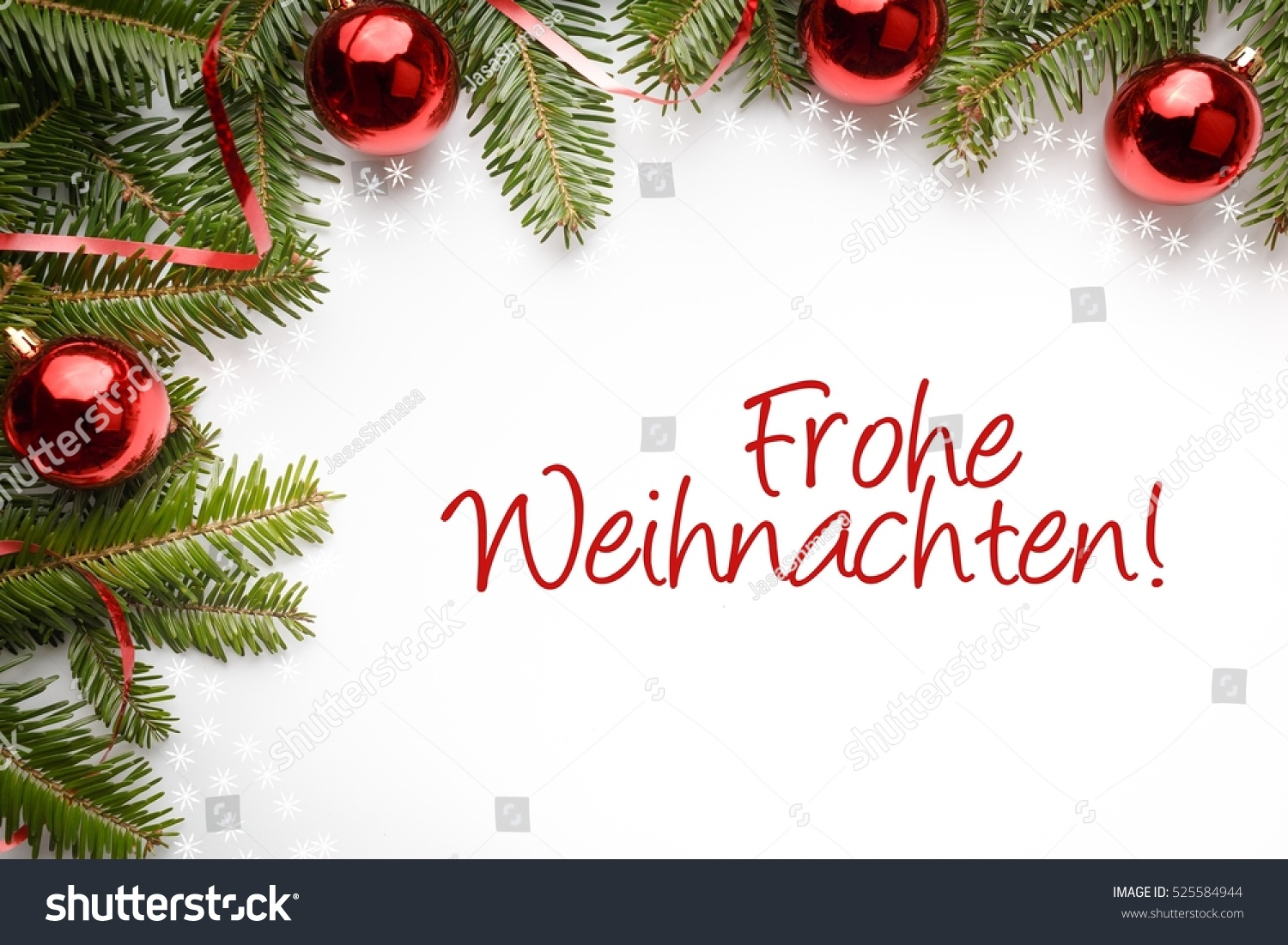 Christmas Decoration Background With Christmas Greeting In Spanish