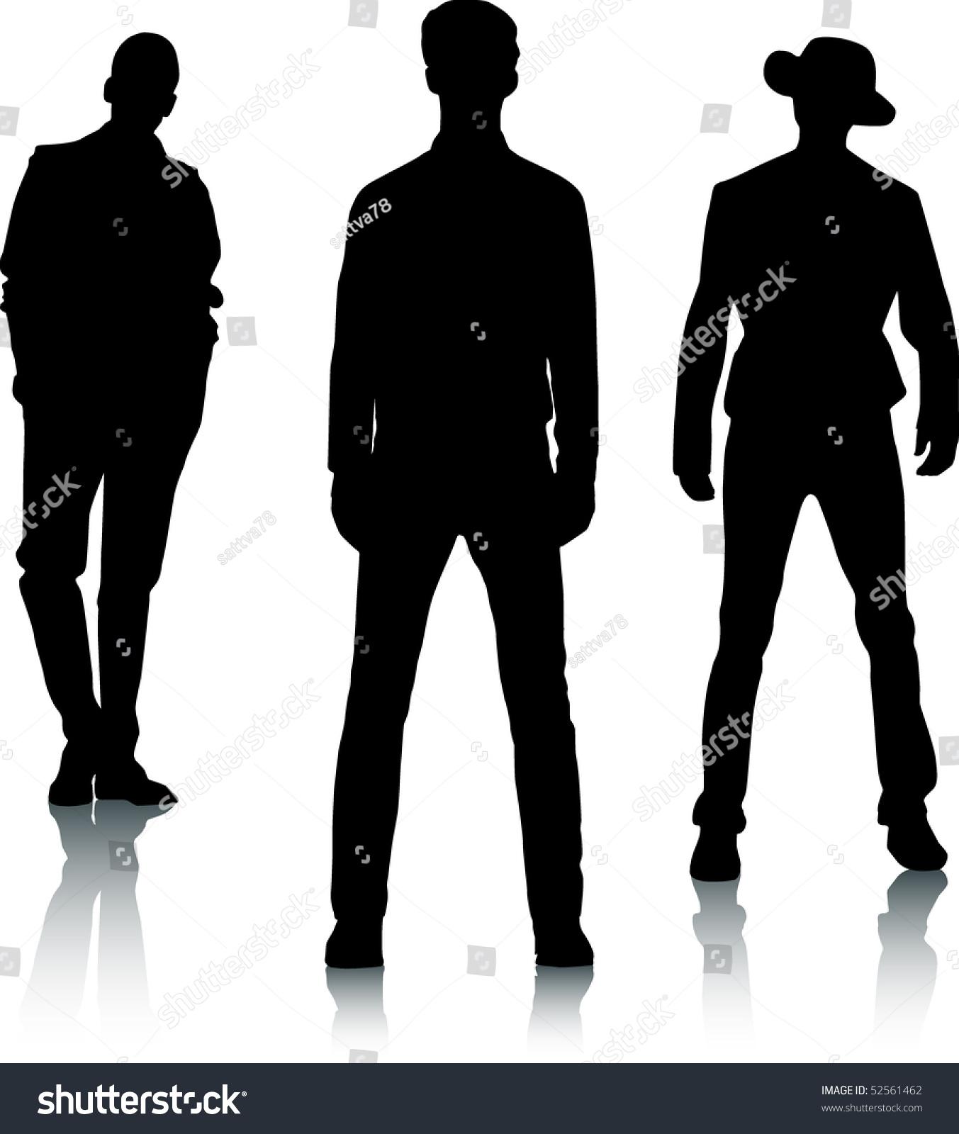 da9630bd308 Silhouette fashion men stock vector royalty free jpg 1353x1600 Man  silhouette fashion