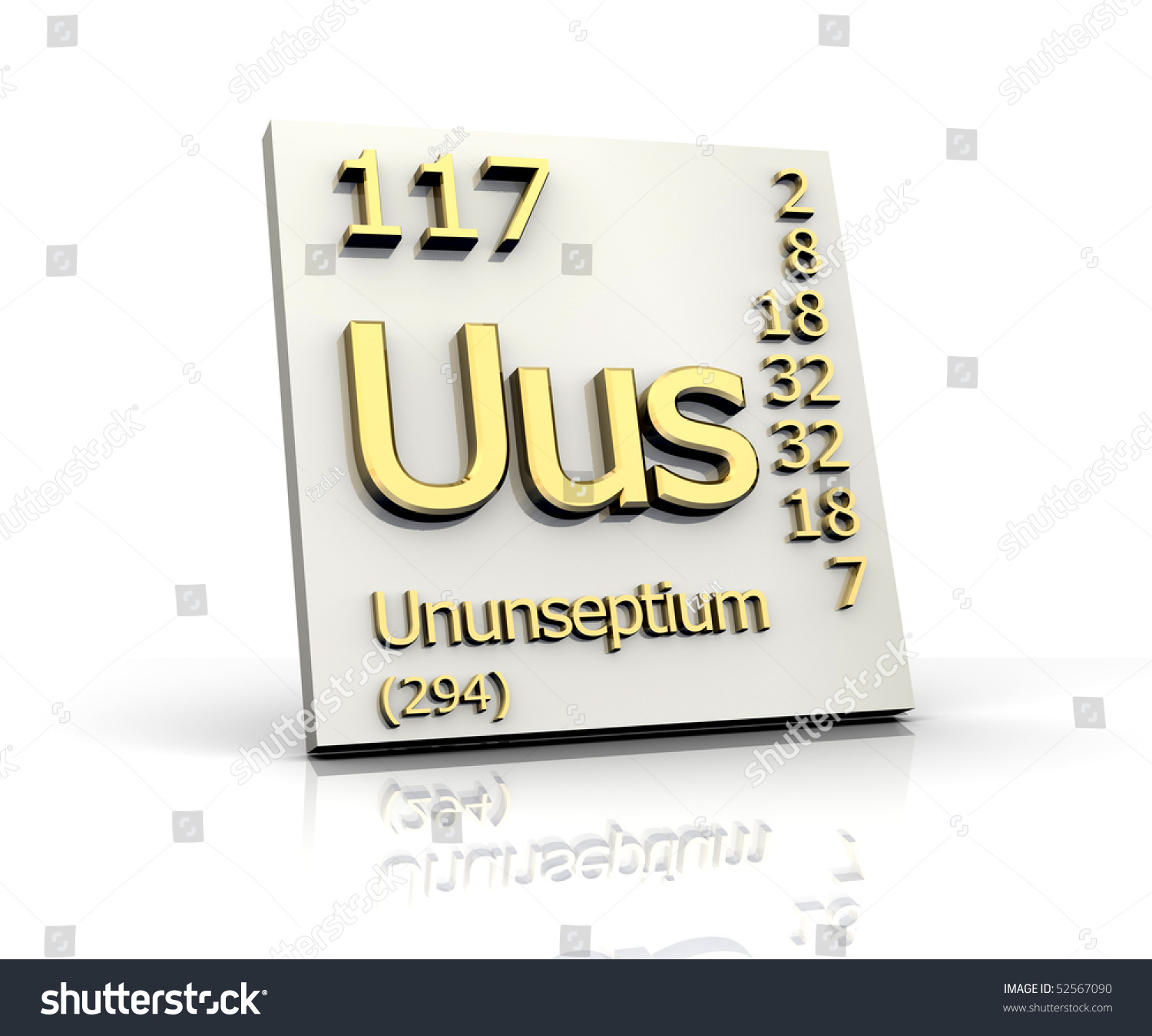 Ununseptium From Periodic Table Of Elements Stock Photo ...