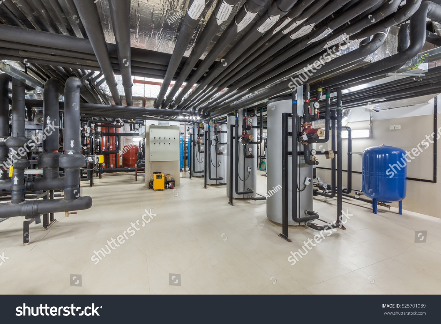 Water Treatment Heating System Building Stock Photo 525701989  #304B71