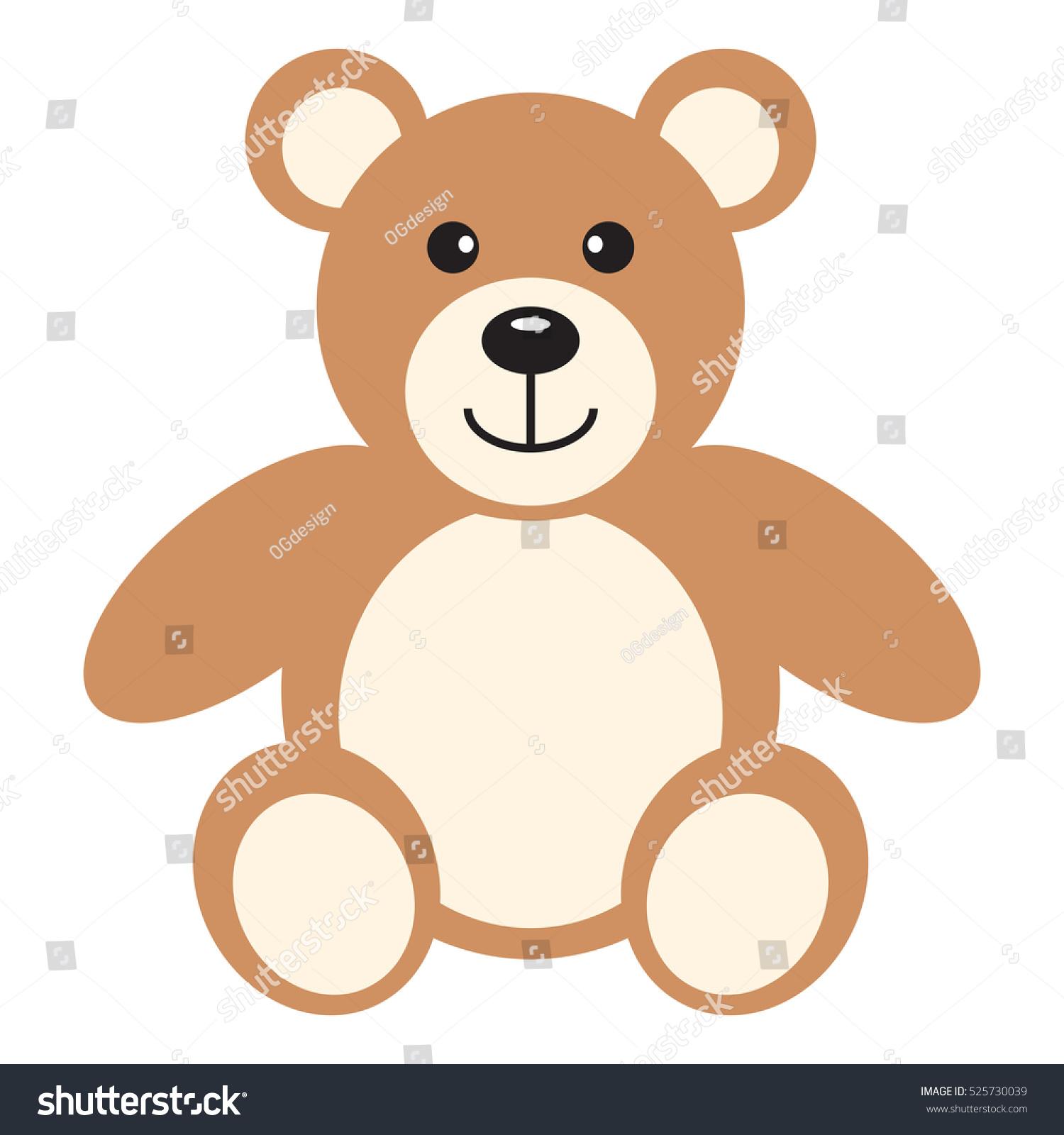Flat Icon Teddy Bear Vector Illustration Stock-Vektorgrafik ...