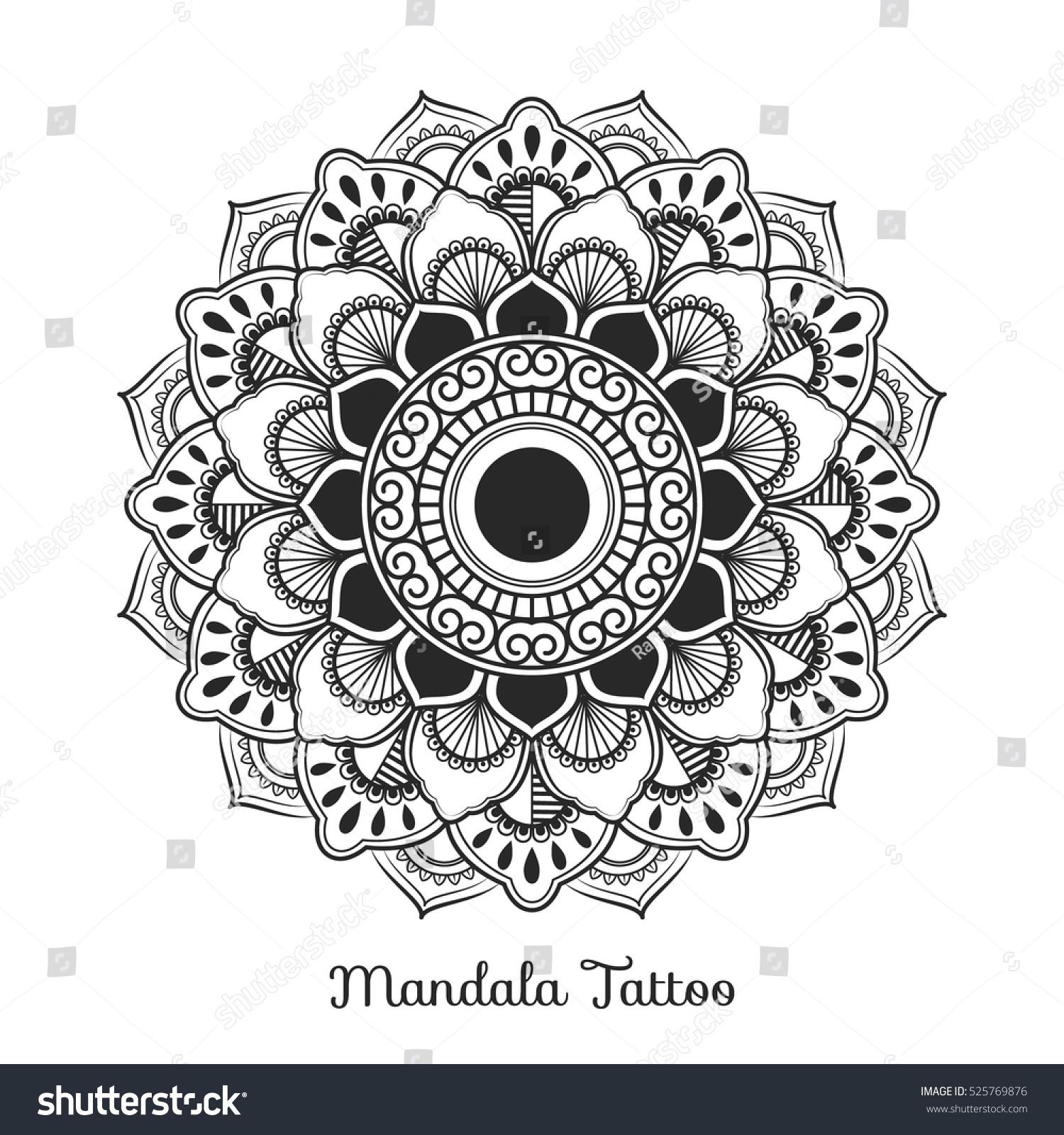 mandala decorative ornament design coloring page stock vector