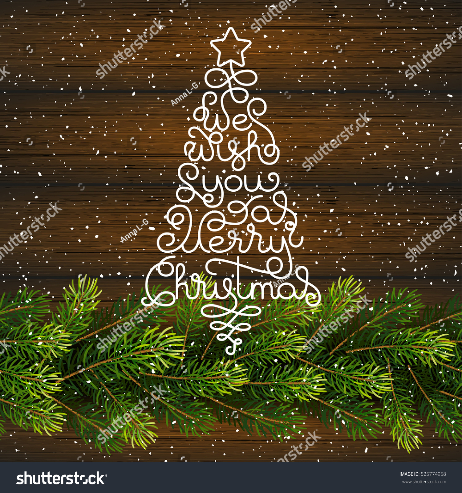Holiday Gift Card Hand Lettering We Stock Vector Royalty Free
