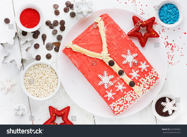 Ugly Christmas Sweater Cake Recipe Winter Stock Photo (Edit