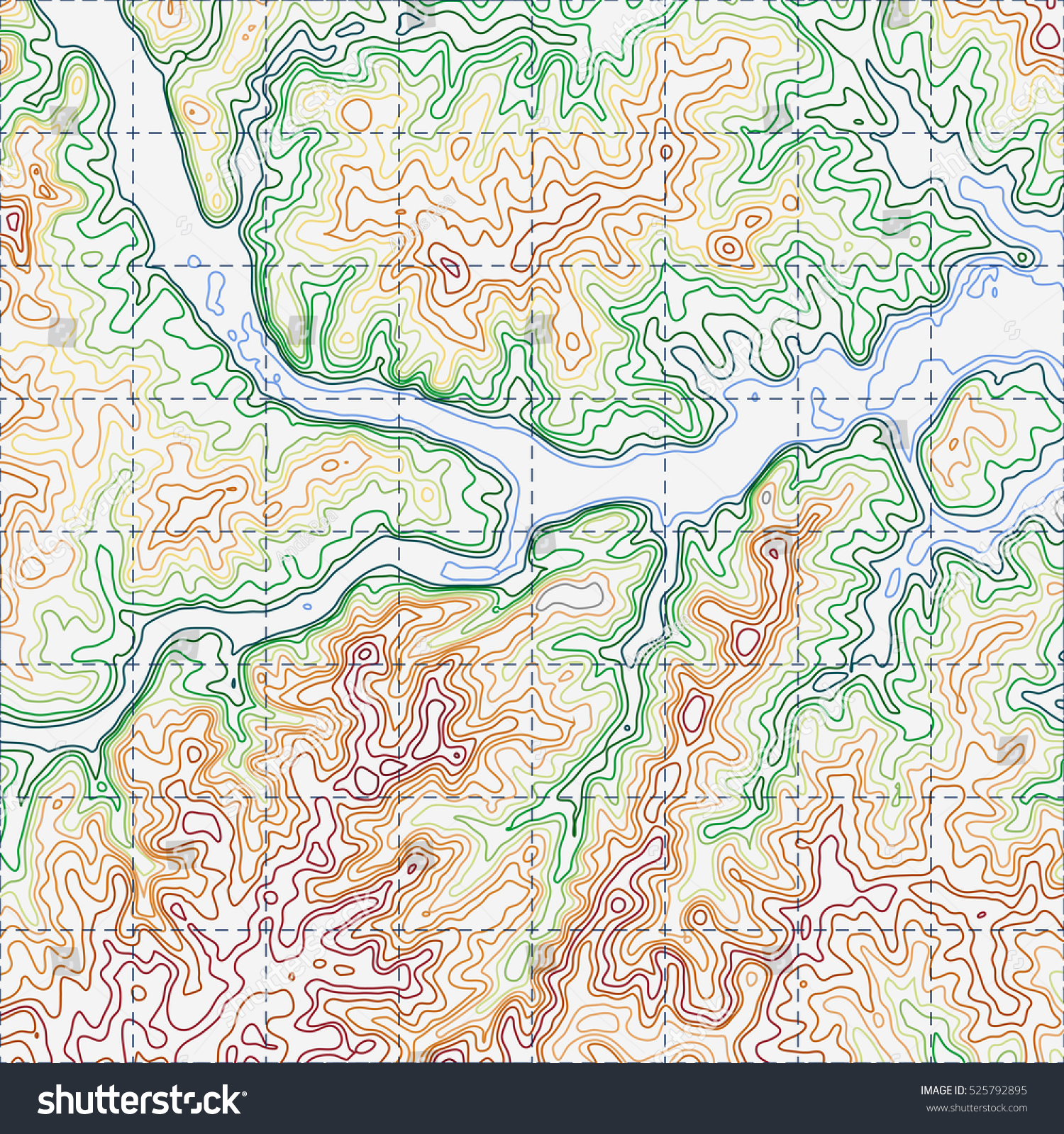 Hill Topographic Map.Topographic Map Background Concept Topo Contour Stock Vector