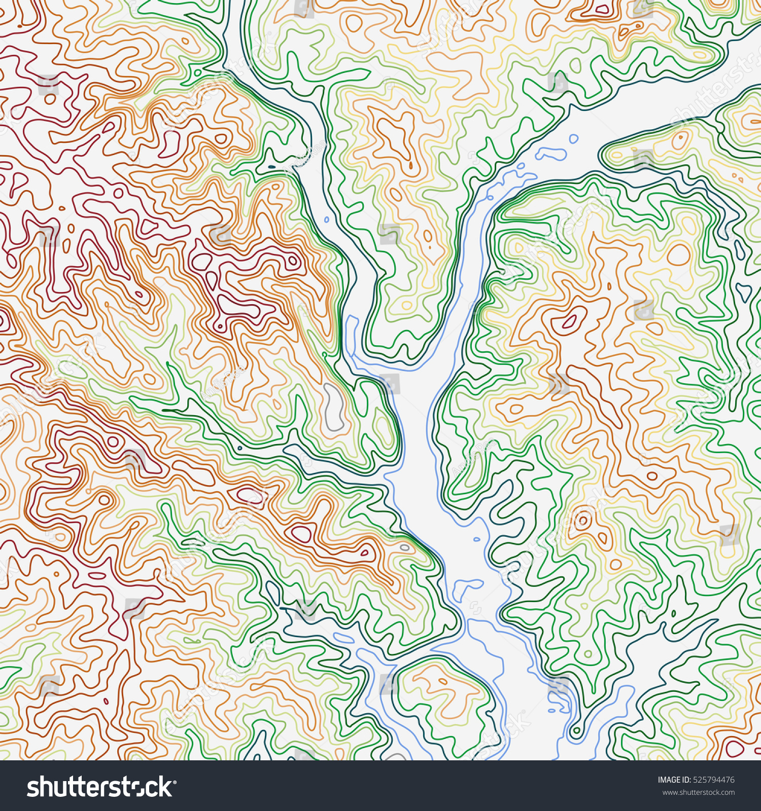 Topographic Map Mountains.Topographic Map Background Concept Topo Contour Stock Vector