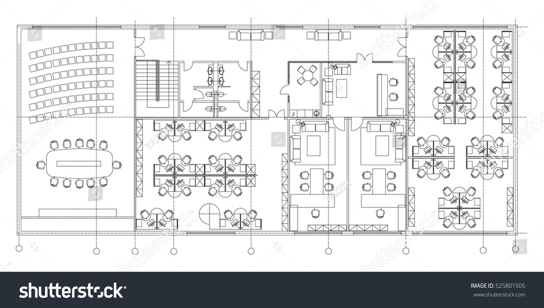 office room plan. Standard Office Furniture Symbols Set Used Stock Vector 525801505 - Shutterstock Room Plan