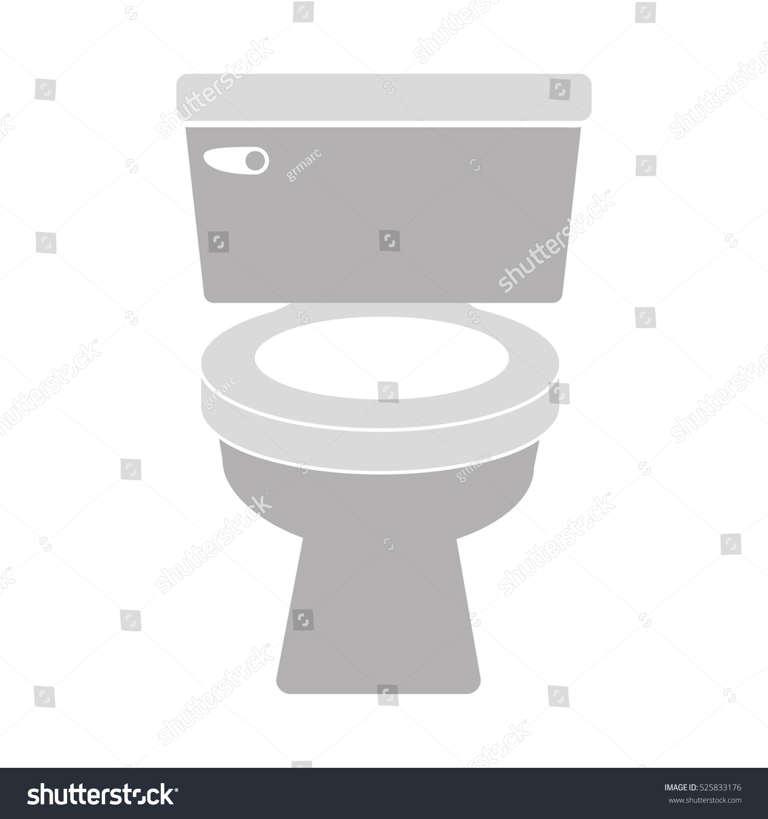 How To Create A Greyscale Bathroom: Gray Scale Silhouette Toilet Stock Vector 525833176