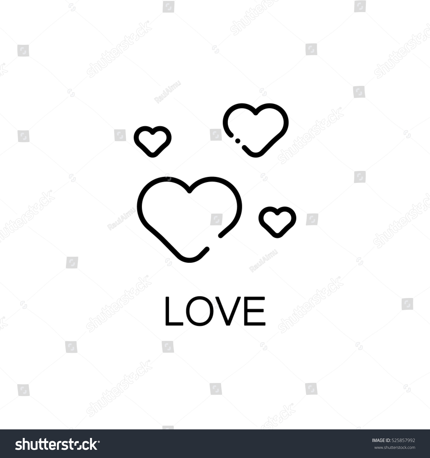 Heart flat icon single high quality stock vector 525857992 heart flat icon single high quality outline symbol of spring for web design or mobile buycottarizona Image collections