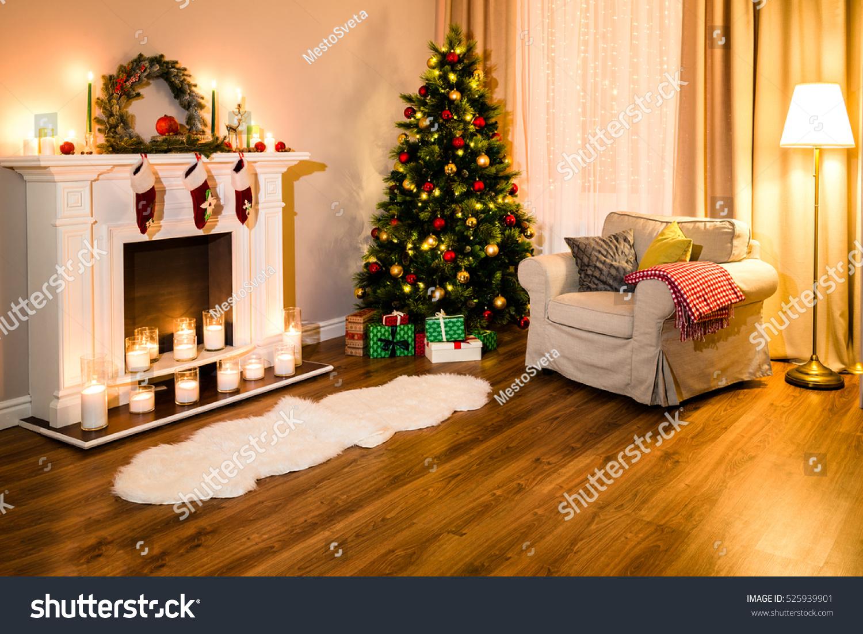 cozy living room full warm light stock photo 525939901 shutterstock