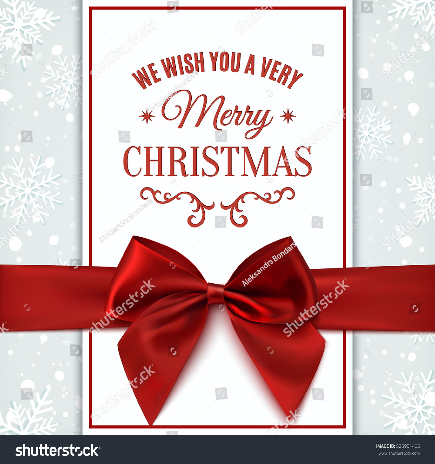 we wish you merry christmas greeting stock vector 525951406 we wish you merry christmas greeting card invitation flyer or brochure template vector