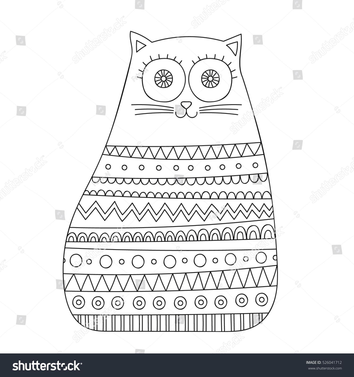doodle cat vector hand drawn doodle stock vector 526041712