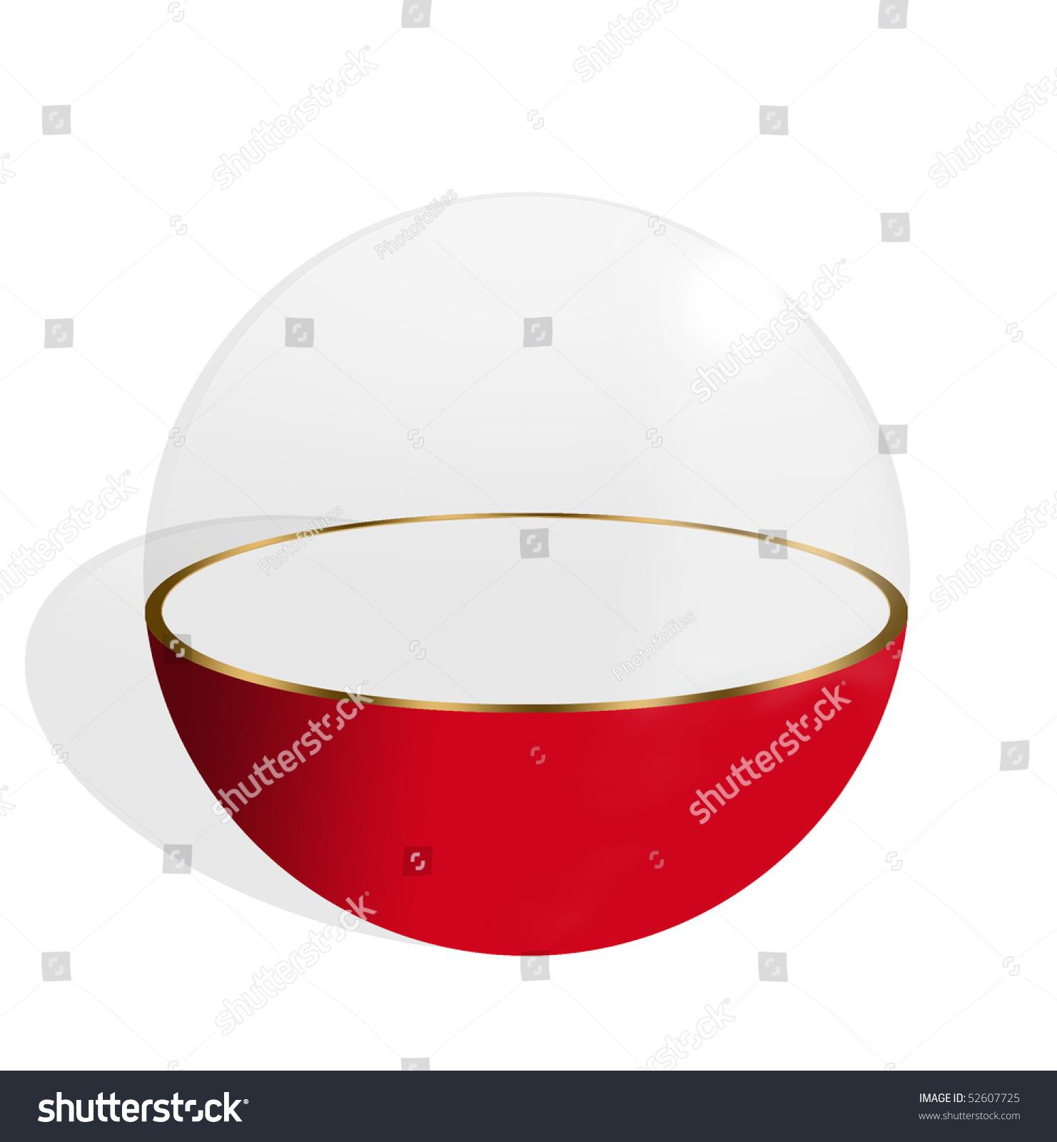 Sphere Half Transparent Half Red On Stock Illustration ...