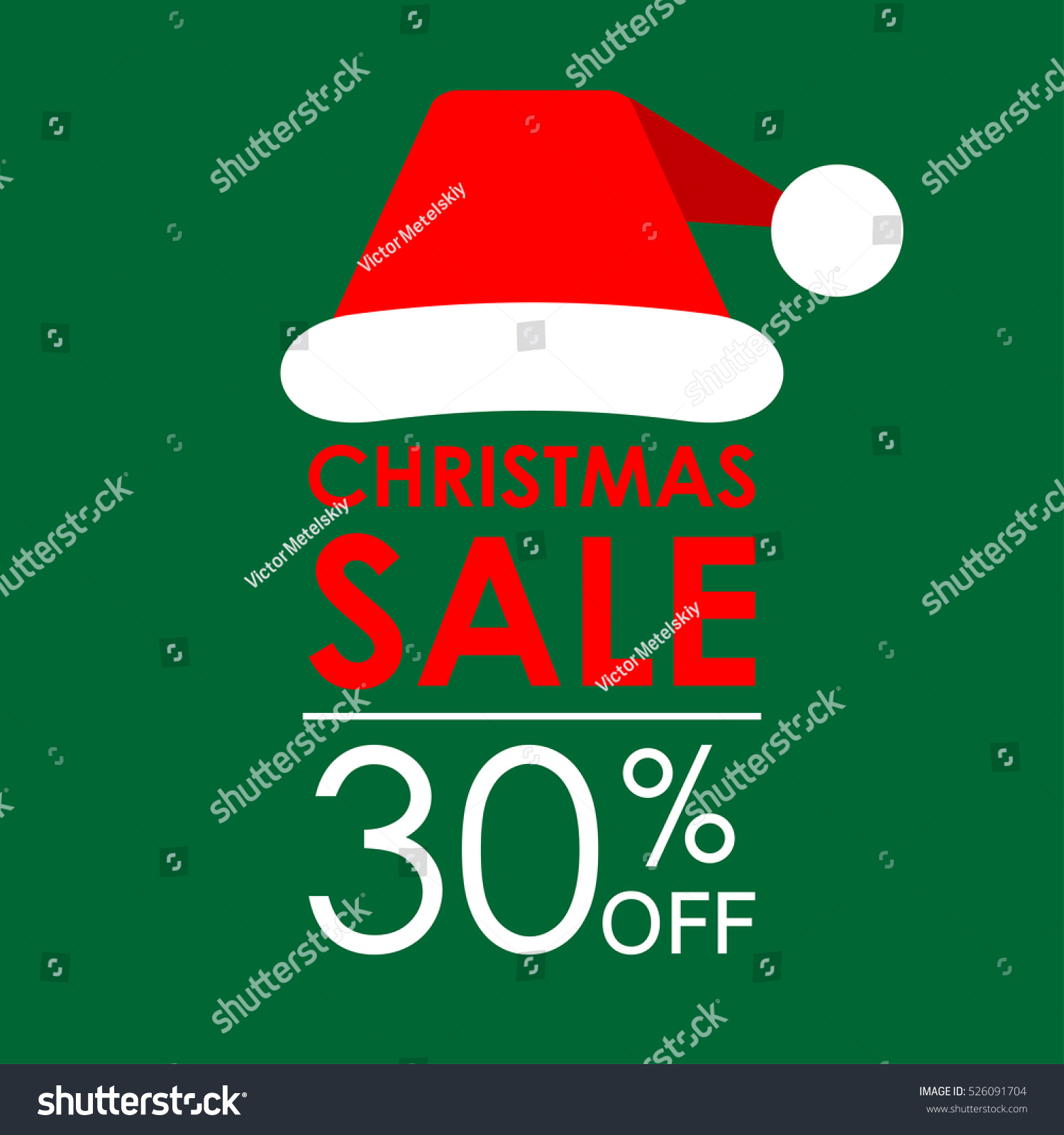 30 Off Sale Christmas Sale Banner Stock Vector (Royalty Free ...