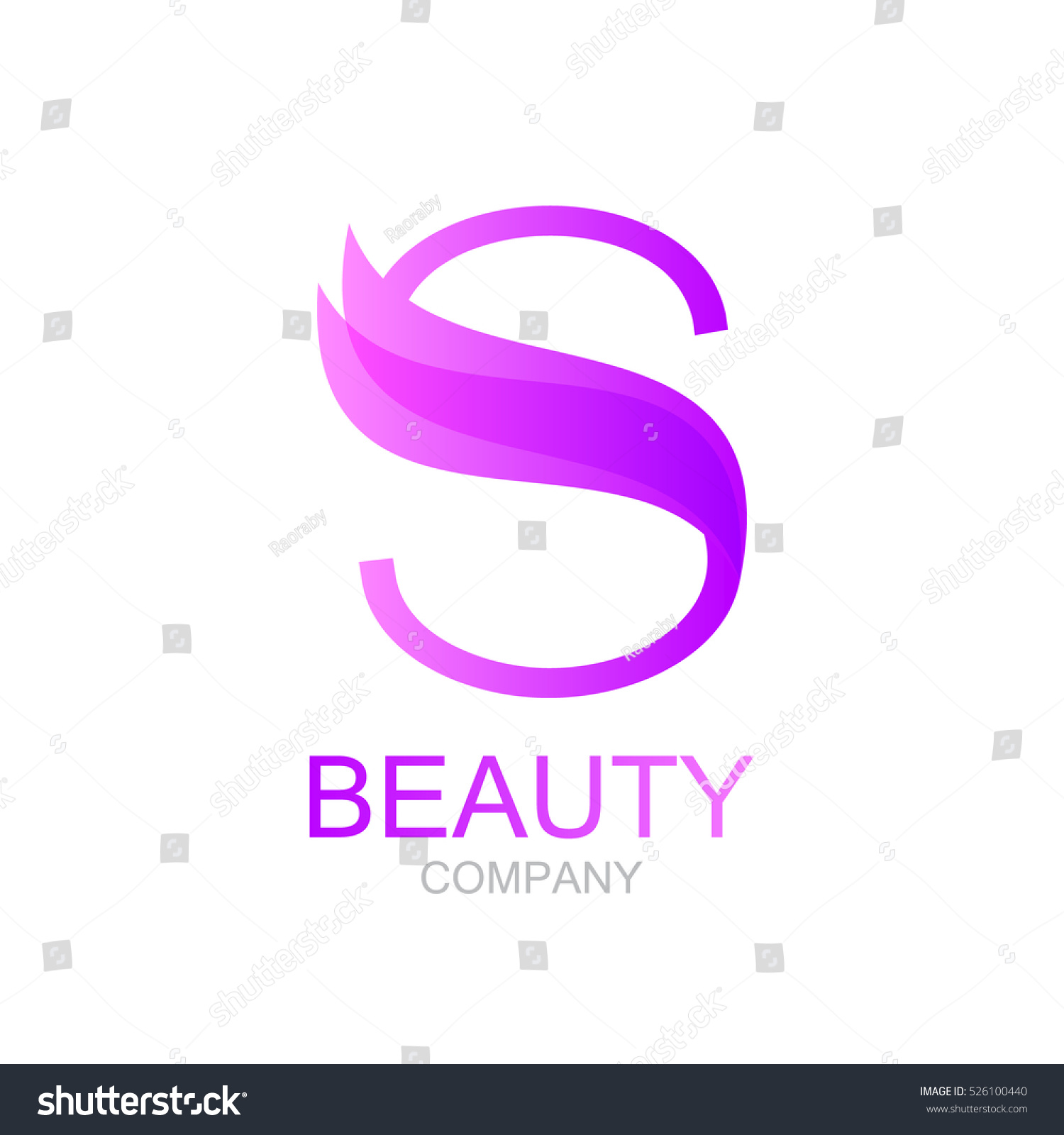 Abstract letter s logo design template stock vector for Abstract beauty salon