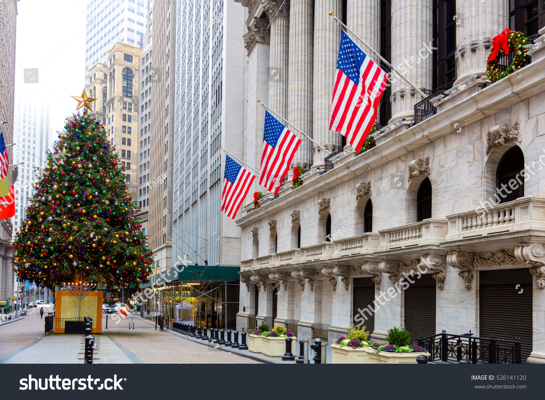 Famous Wall Street New York City Stock Photo (Royalty Free ...