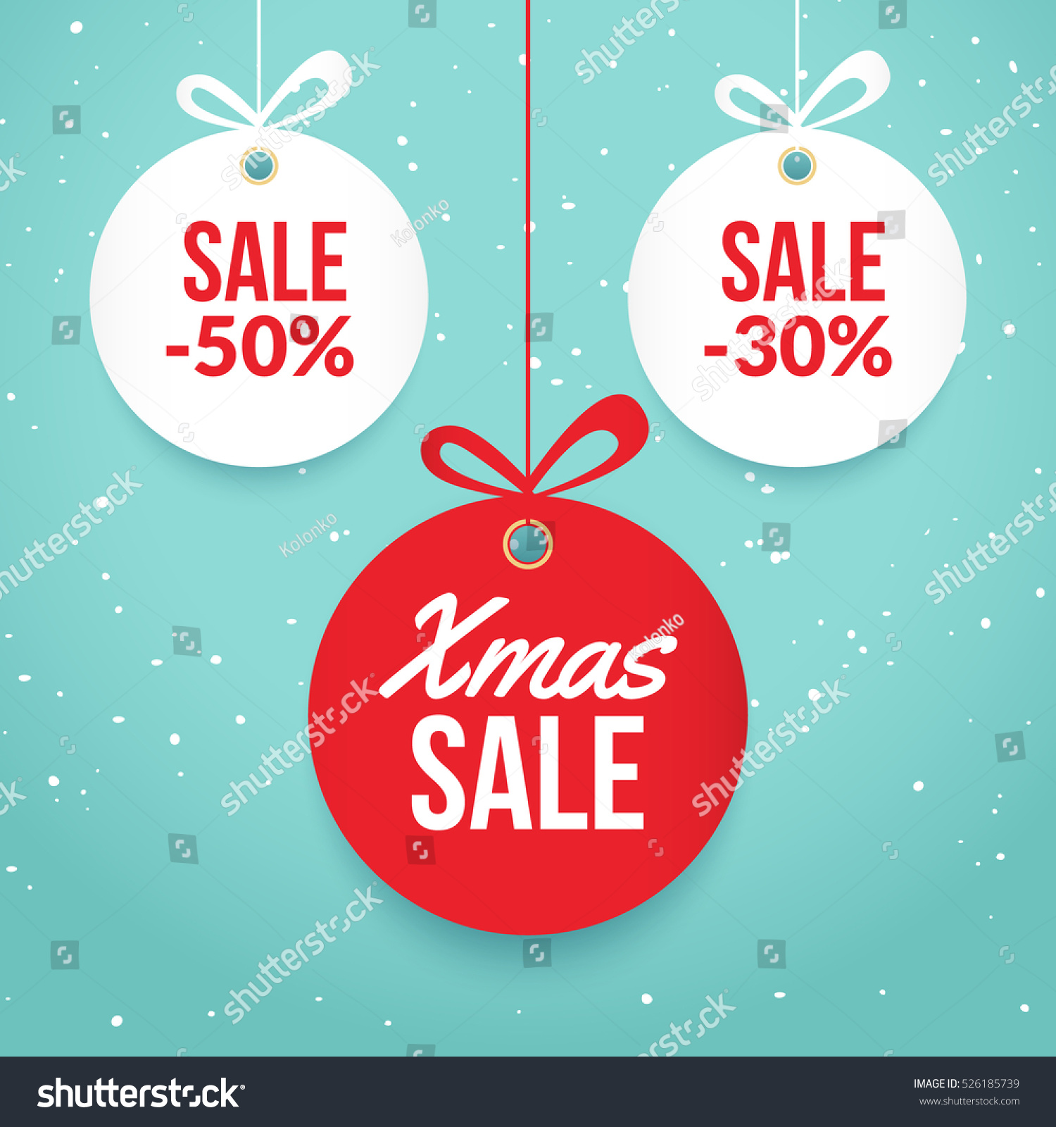 christmas balls special offer vector stock vector  christmas balls special offer vector tag new year holiday card template shop