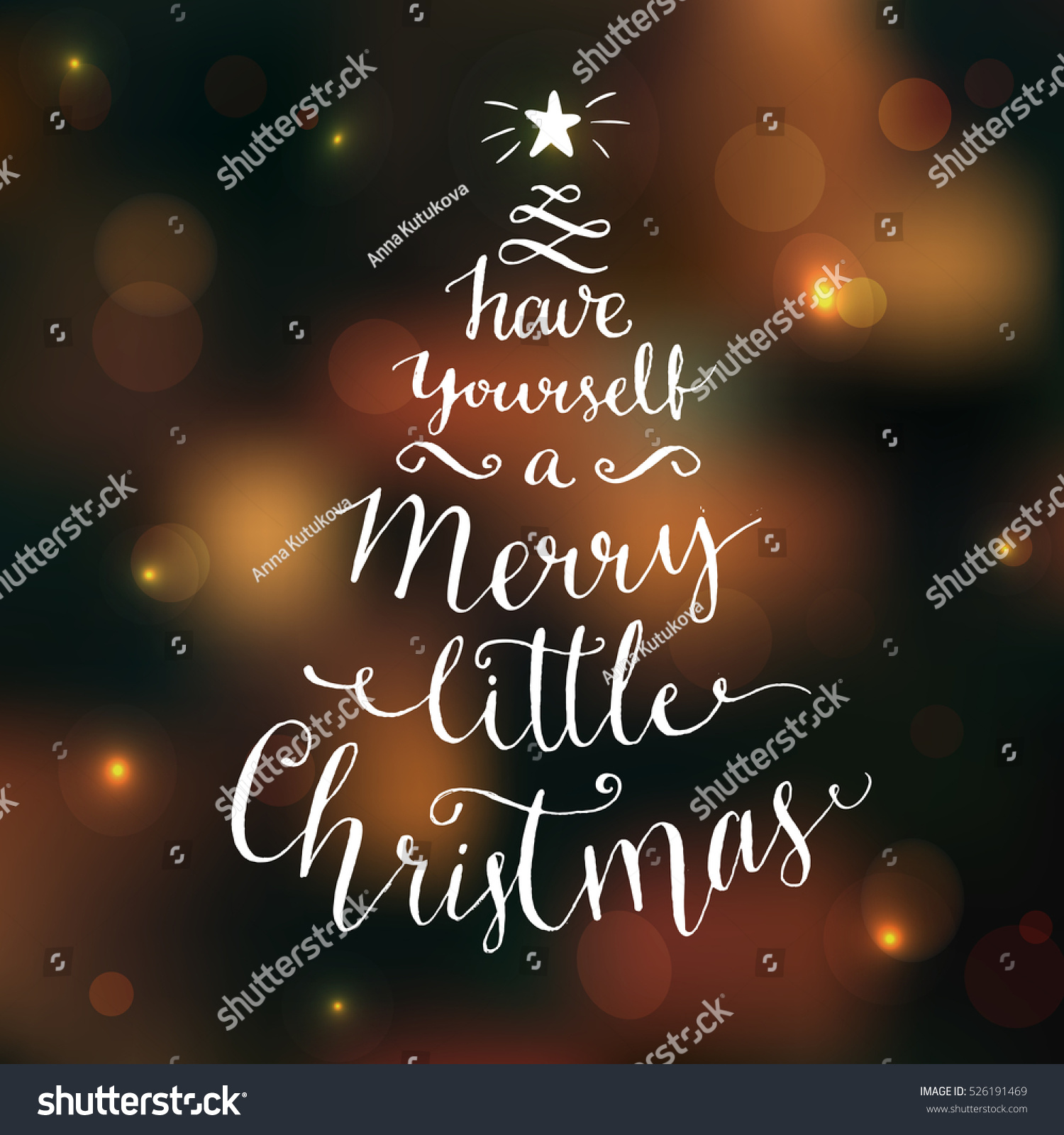 Have Yourself Merry Little Christmas Greeting Stock Vector ...