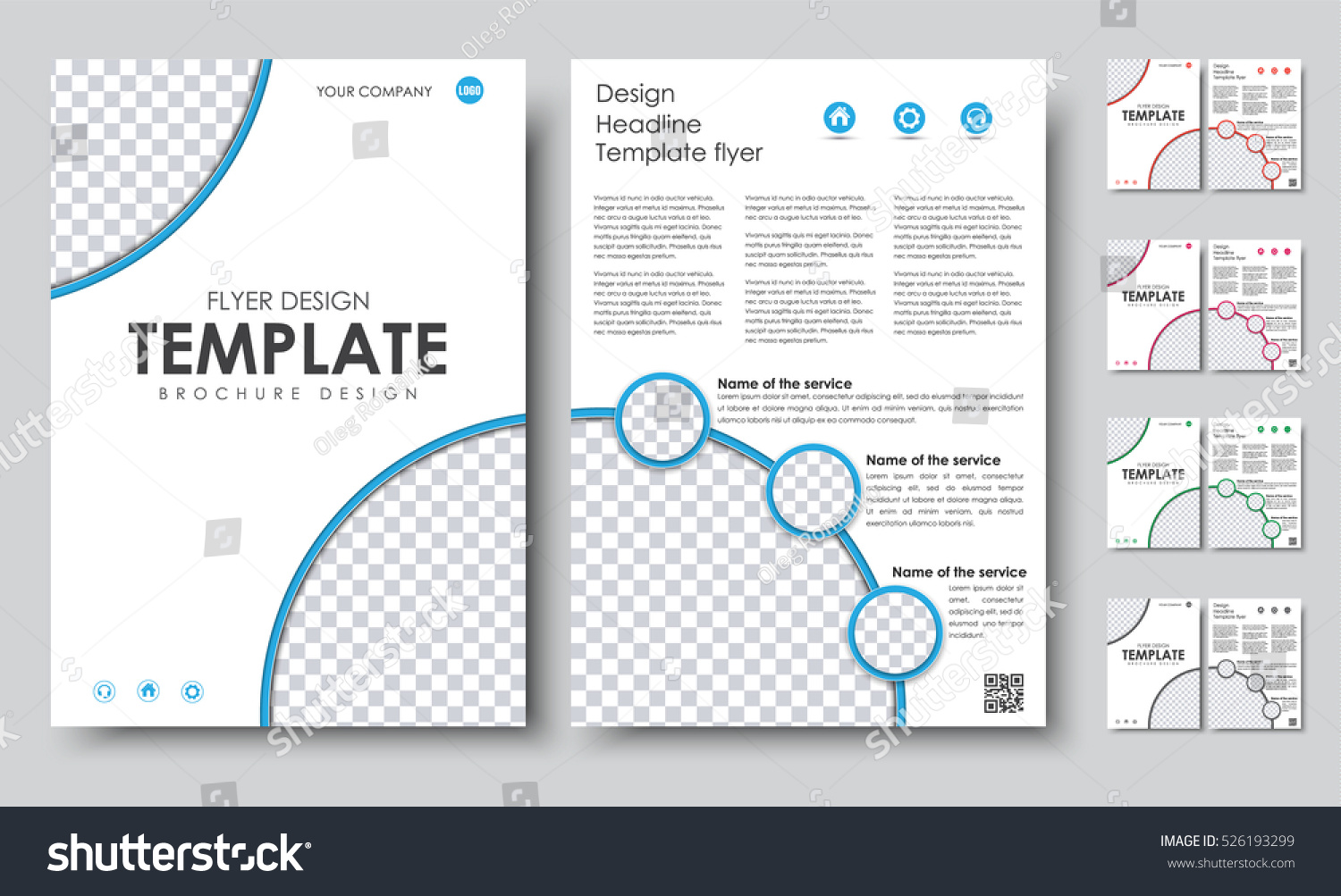 2 page flyer template