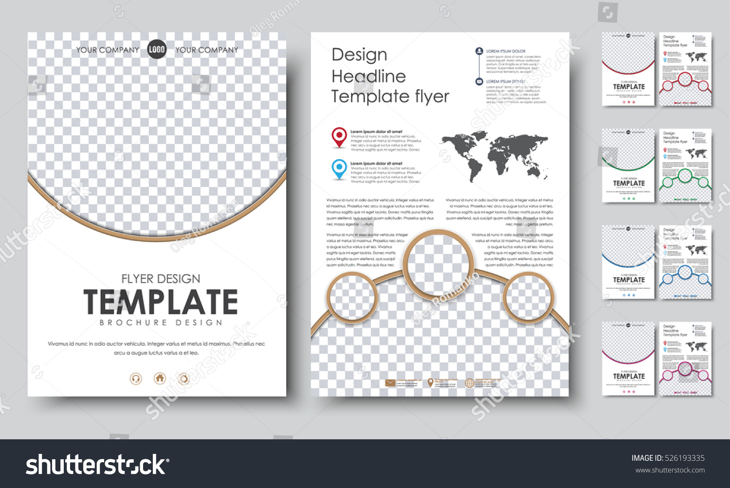 Template color flyers a4 design 2 stock vector 526193335 template color flyers a4 design 2 pages booklet with circles for a photo world pronofoot35fo Choice Image