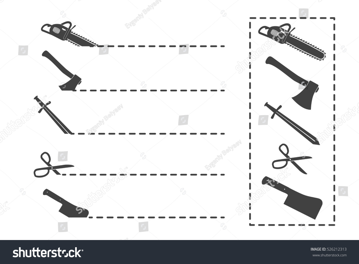 Cut here symbol scissors dotted line stock vector 526212313 cut here symbol scissors and dotted line scissors with cut lines isolated on white biocorpaavc