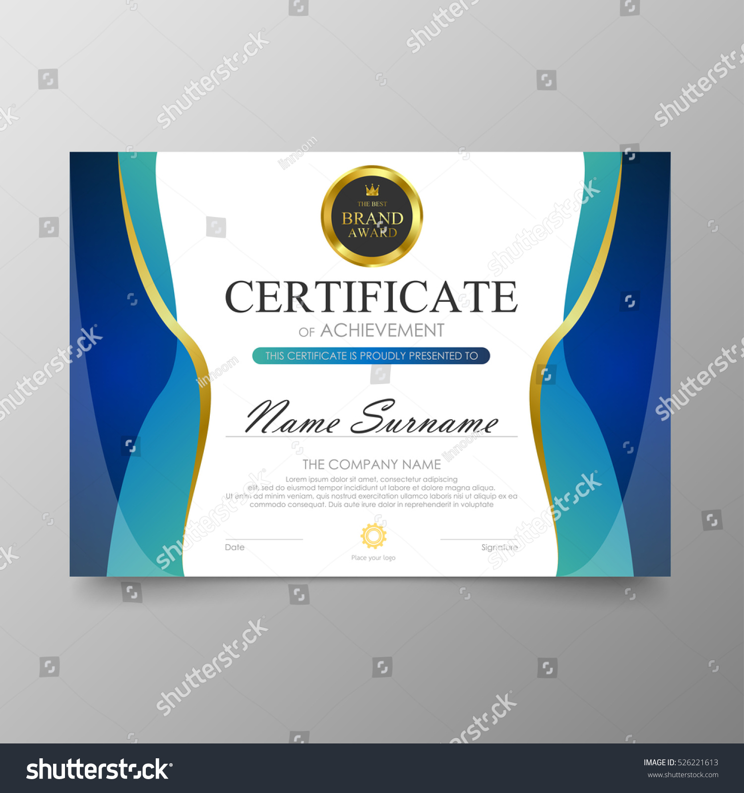 certificate template awards diploma background vector stock vector  certificate template awards diploma background vector stock vector 526221613 shutterstock