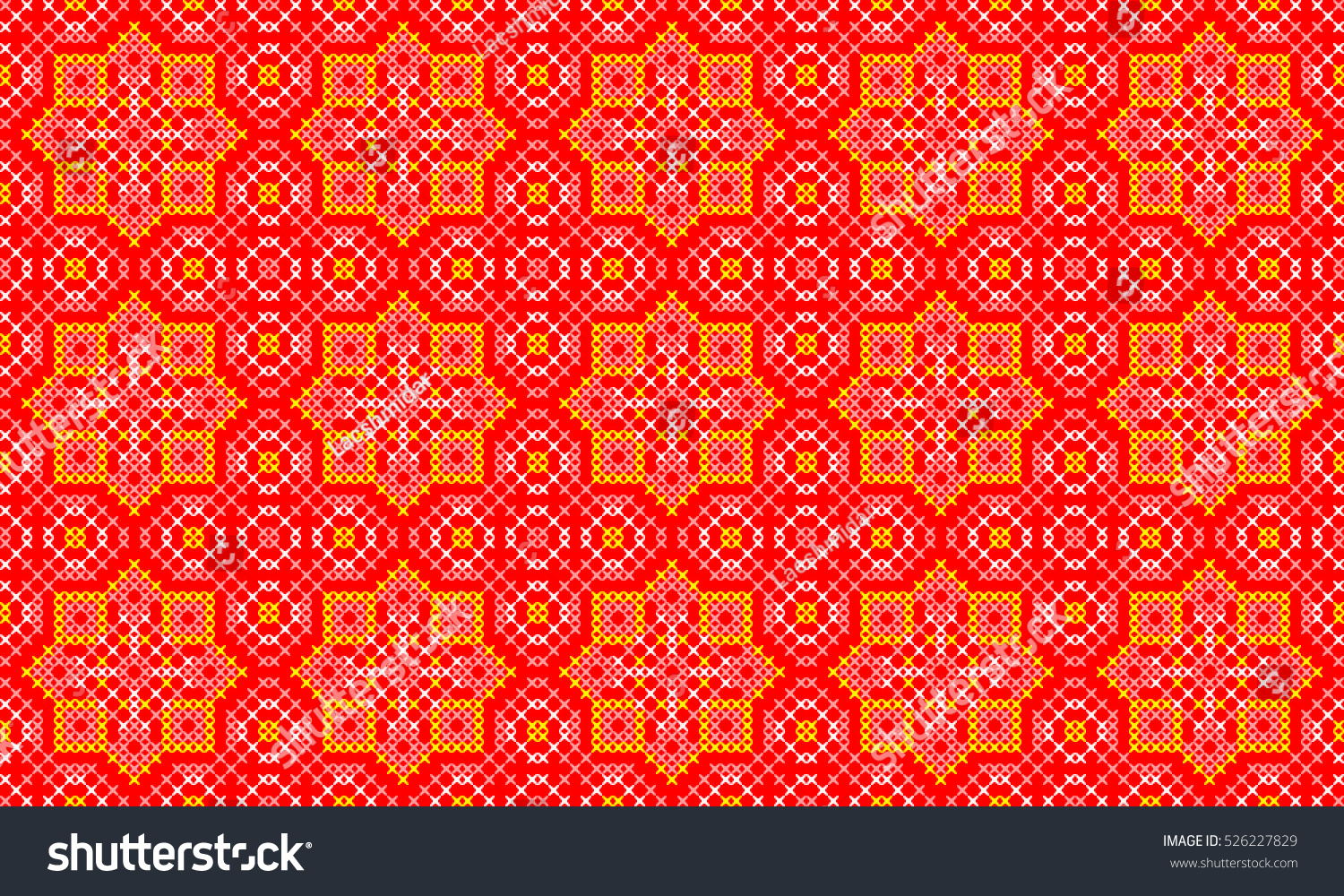 Festive Ethnic Seamless Pattern Jacquard Tapestry Embroidered Stock