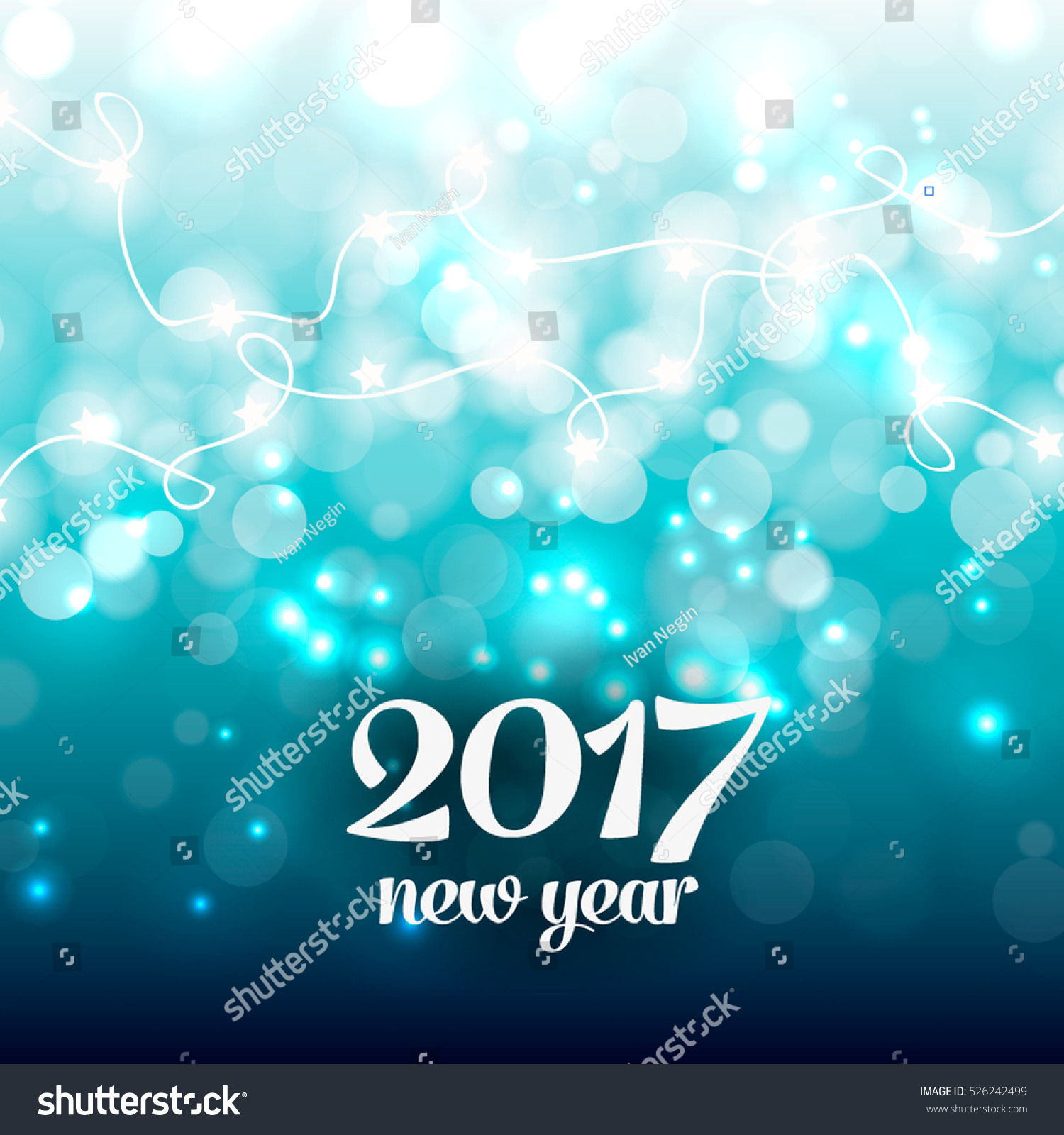 happy new year party invitation card party poster holiday design template snowflake lights glowing lights