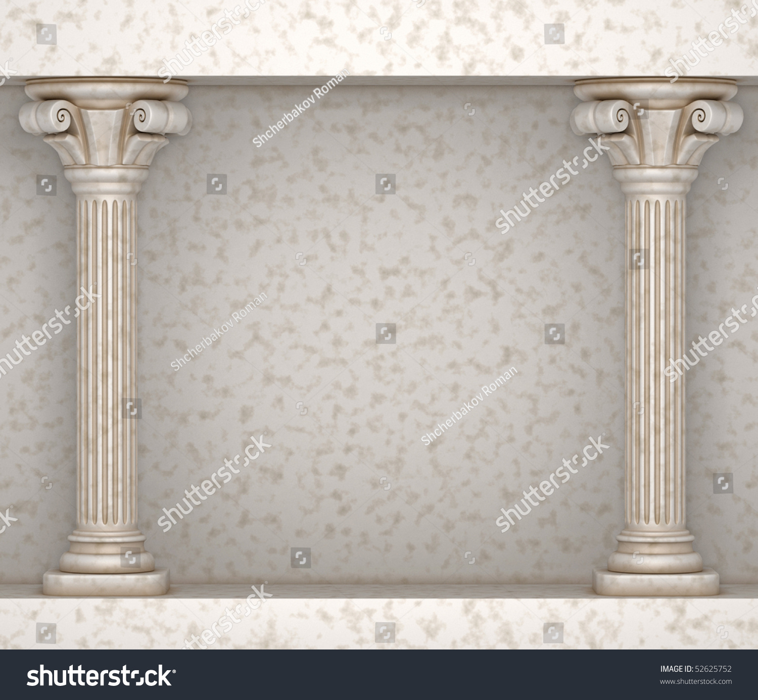 Classic Greek Pillar Background Stock Illustration
