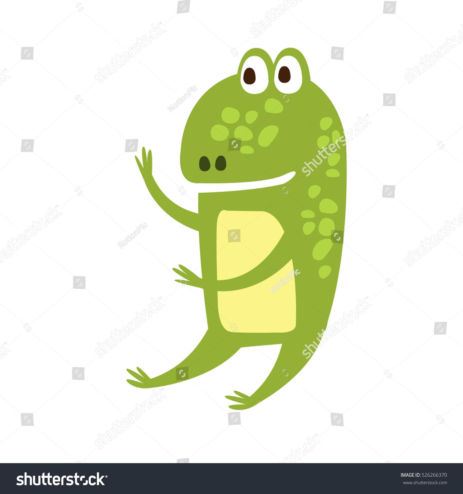 frog sitting like human flat cartoon stock vector 526266370