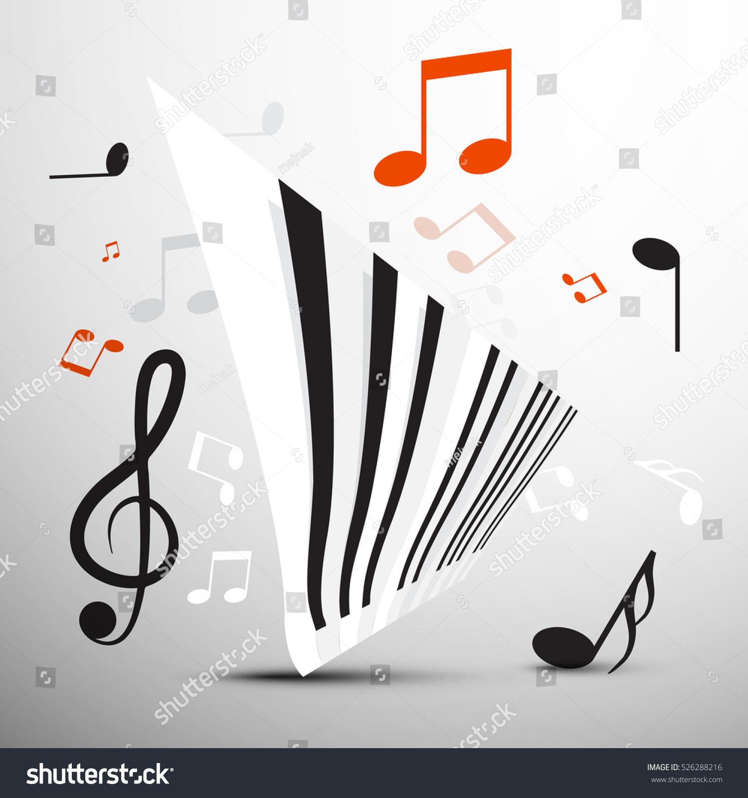Abstract Piano Keyboard Notes Vector Music Stock Vector Royalty