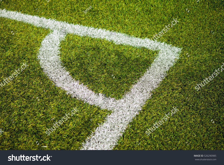 green grass football field. The Football Field On Green Grass. Grass F