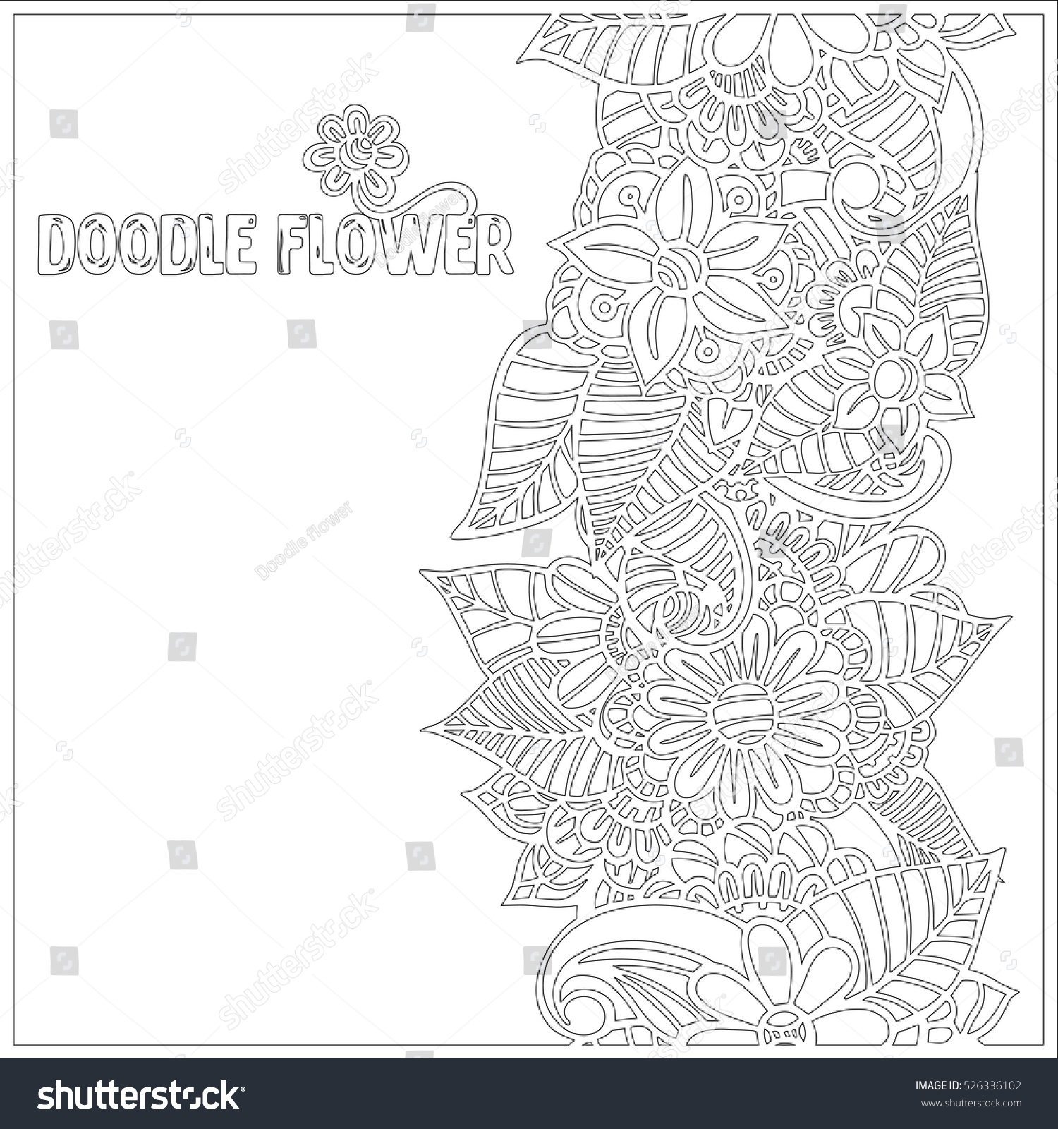 Pattern Coloring Book Leaves Ethnic Floral Stock Vector HD (Royalty ...