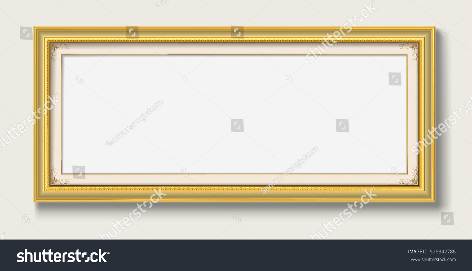 Panorama gold picture frame stock vector 526342786 shutterstock panorama gold picture frame jeuxipadfo Gallery