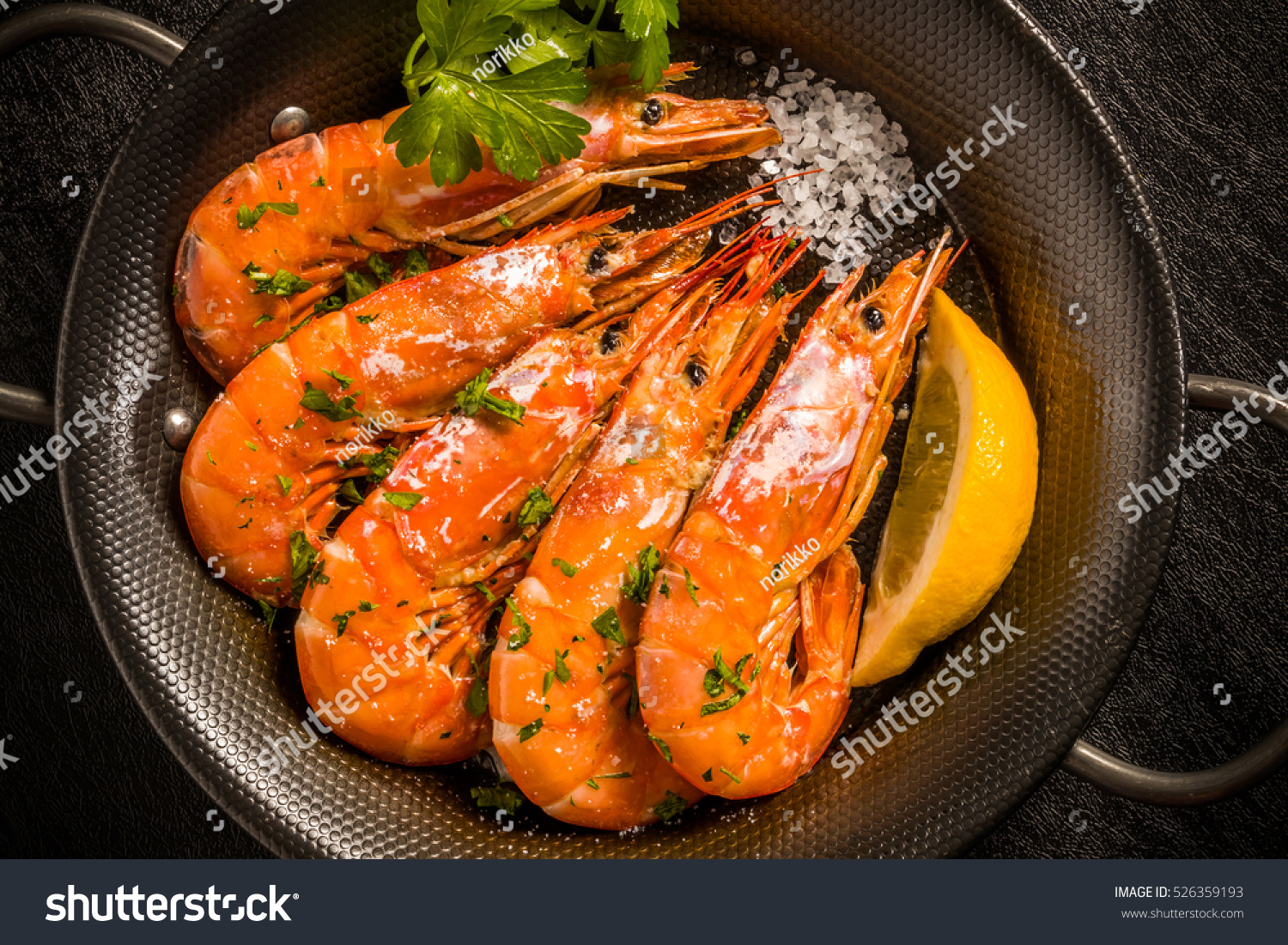 Lemon Parsley Source Capitate Shrimpa La Stock Photo 526359193 ...