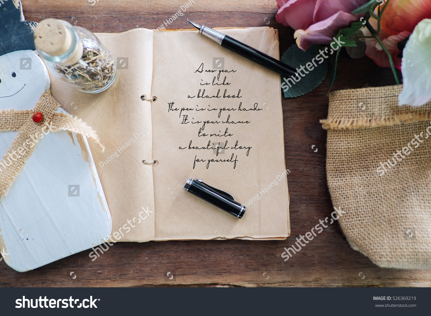 happy new year inspirational quotes with phrase a new year is like a blank book