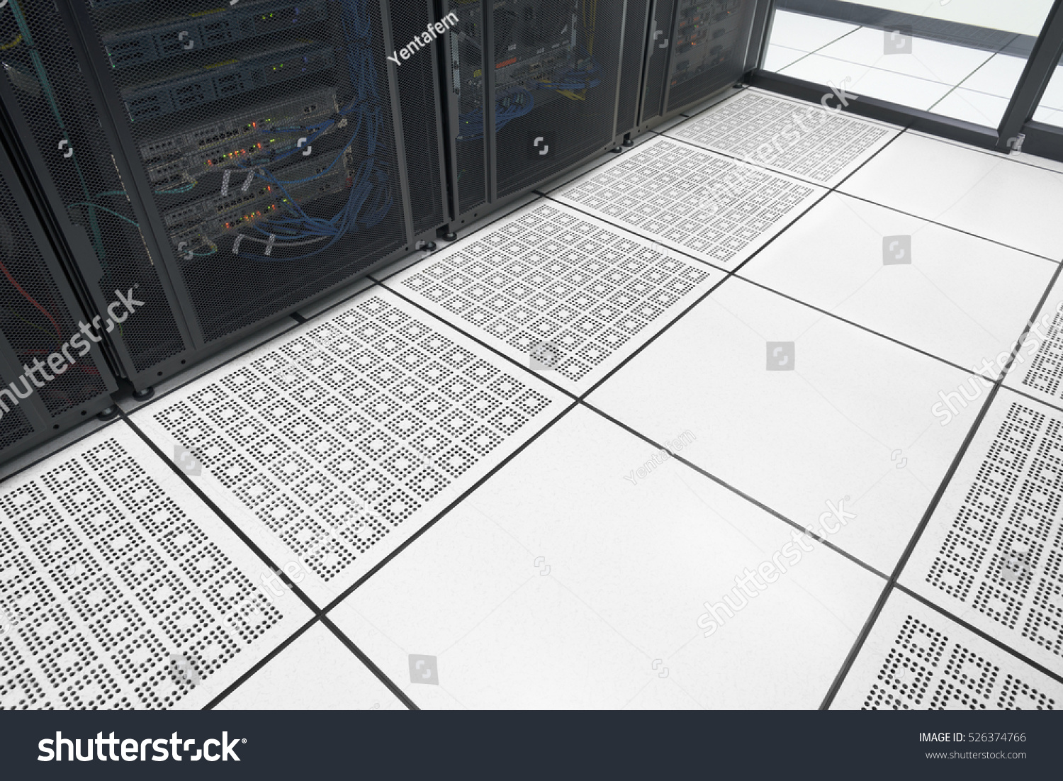Closeup raised floor modern interior server stock photo 526374766 closeup raised floor in modern interior of server room in datacenter with empty area for text dailygadgetfo Choice Image
